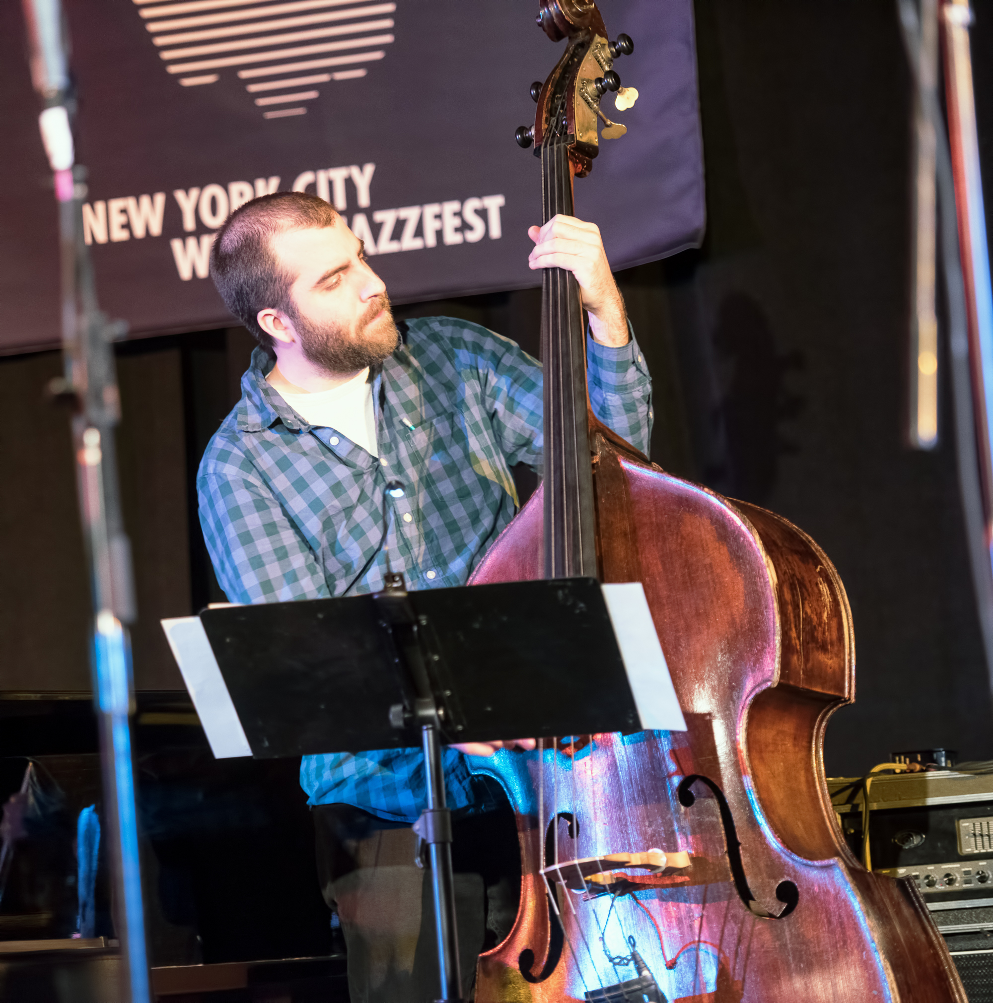 Chris Tordini with Rudresh Mahanthappa's Bird Calls (the Charlie Parker Project) at the Nyc Winter Jazzfest 2015