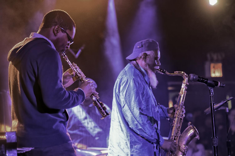 Ravi Coltrane and Pharoah Sanders at The NYC Winter Jazzfest 2017