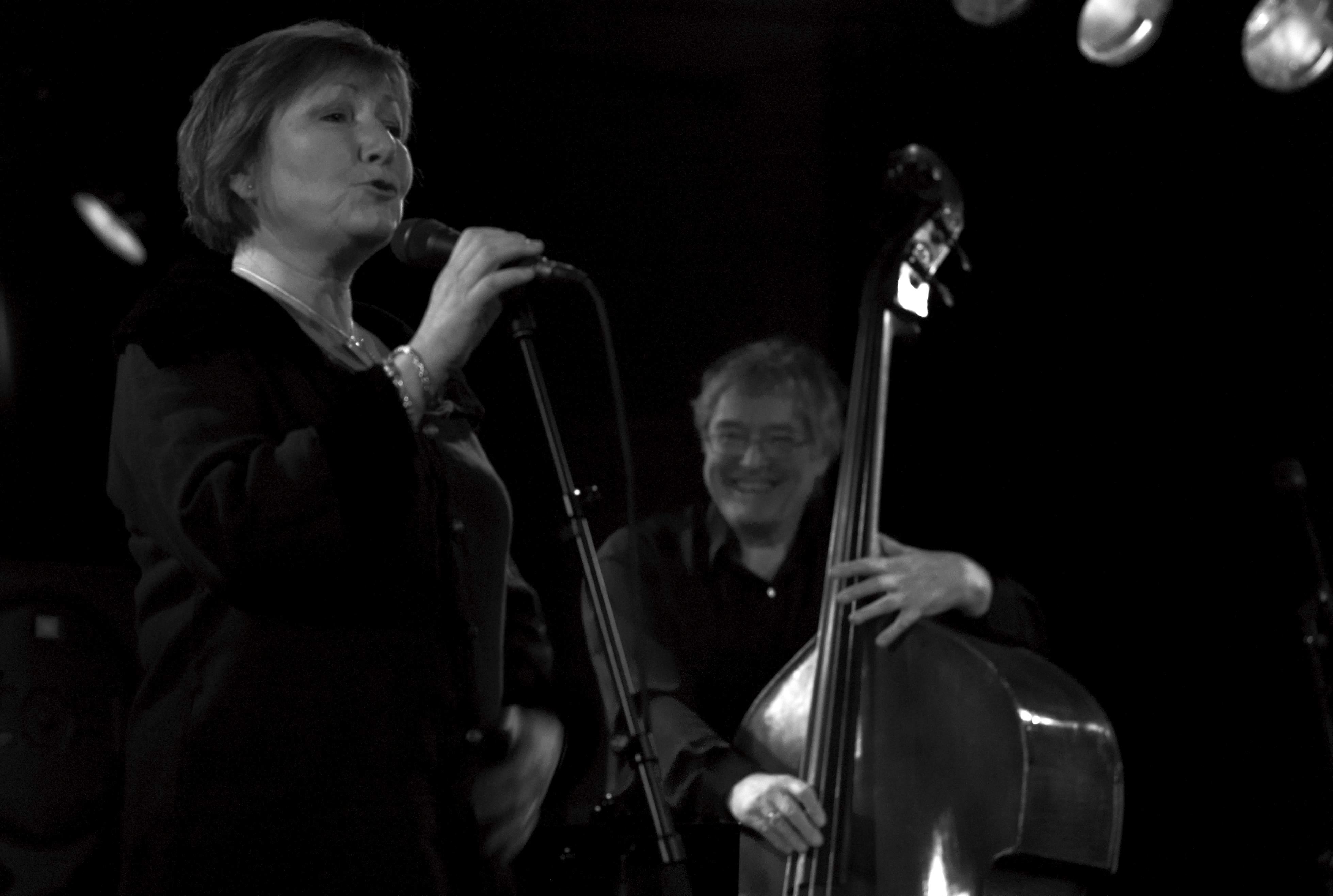 Arild Andersen and Kirsten Brathen Berg I Tromso Jazzklubb