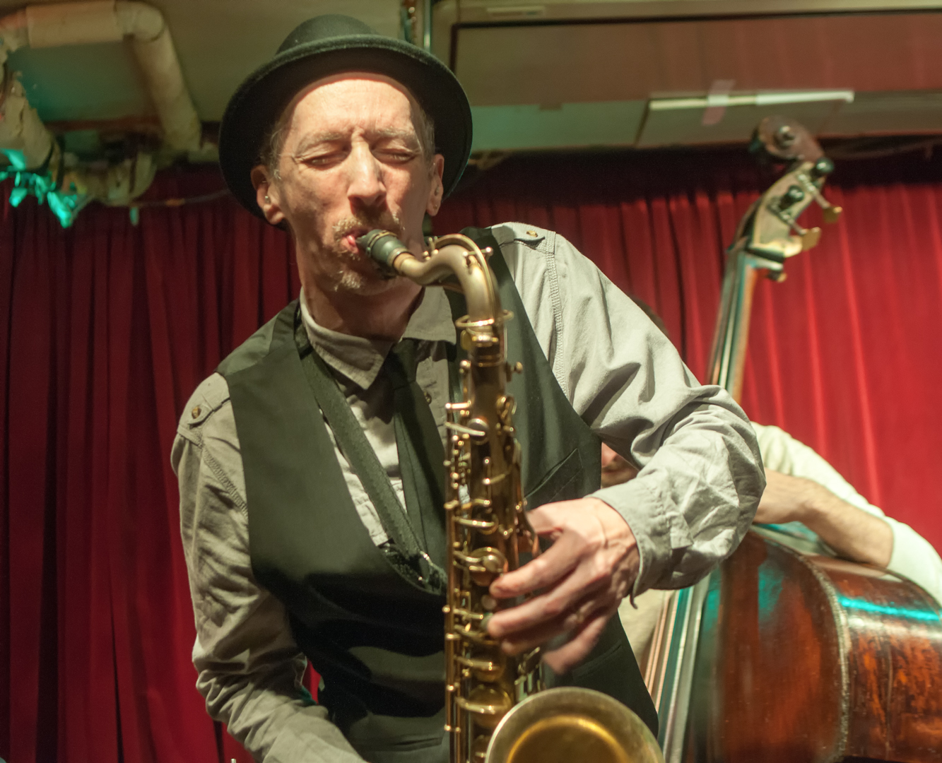 Ellery Eskelin with the David Liebman Quintet at the Cornelia Street Cafe