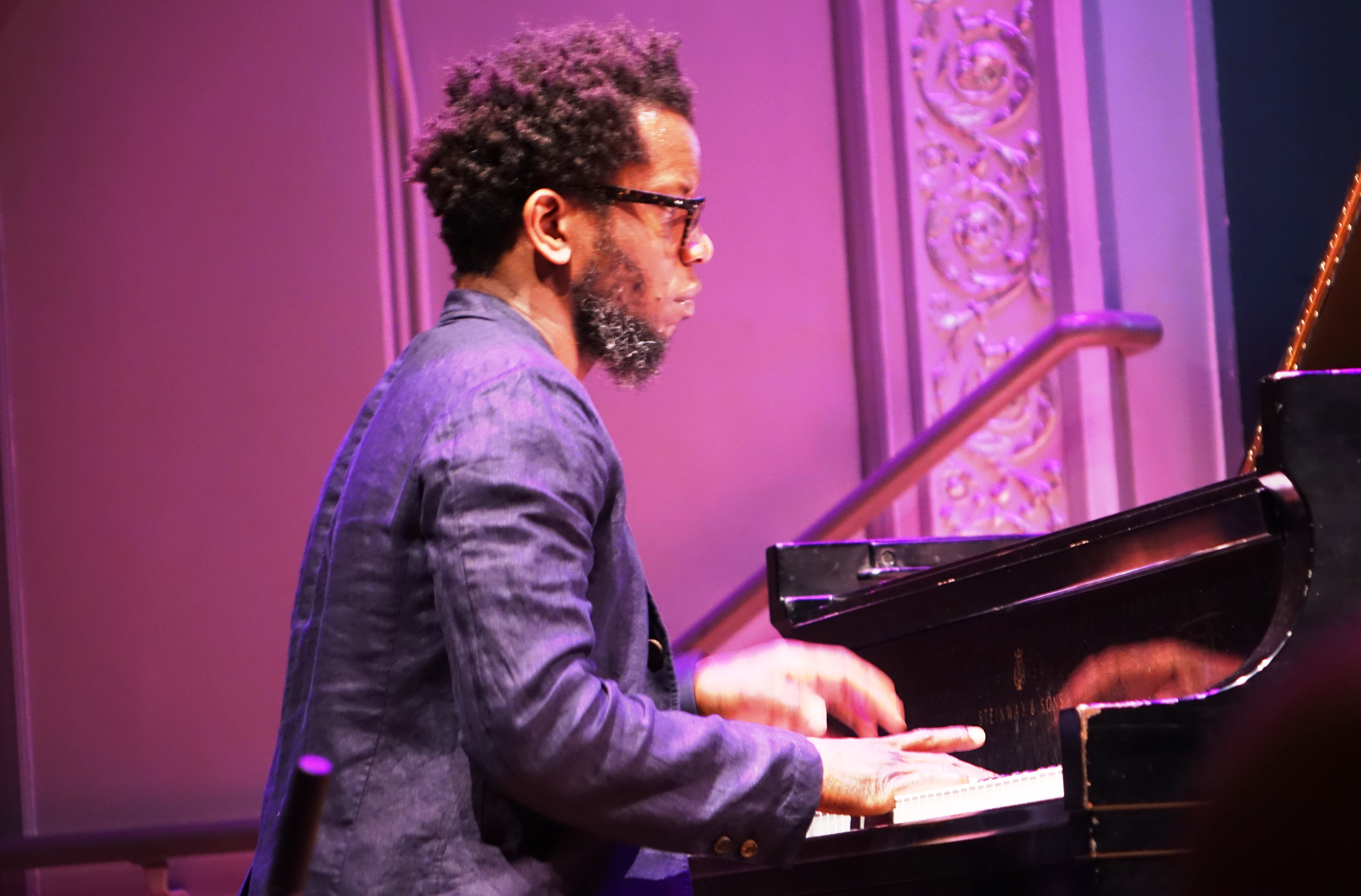 Aruan Ortiz at the Vision Festival at Roulette, Brooklyn in May 2018