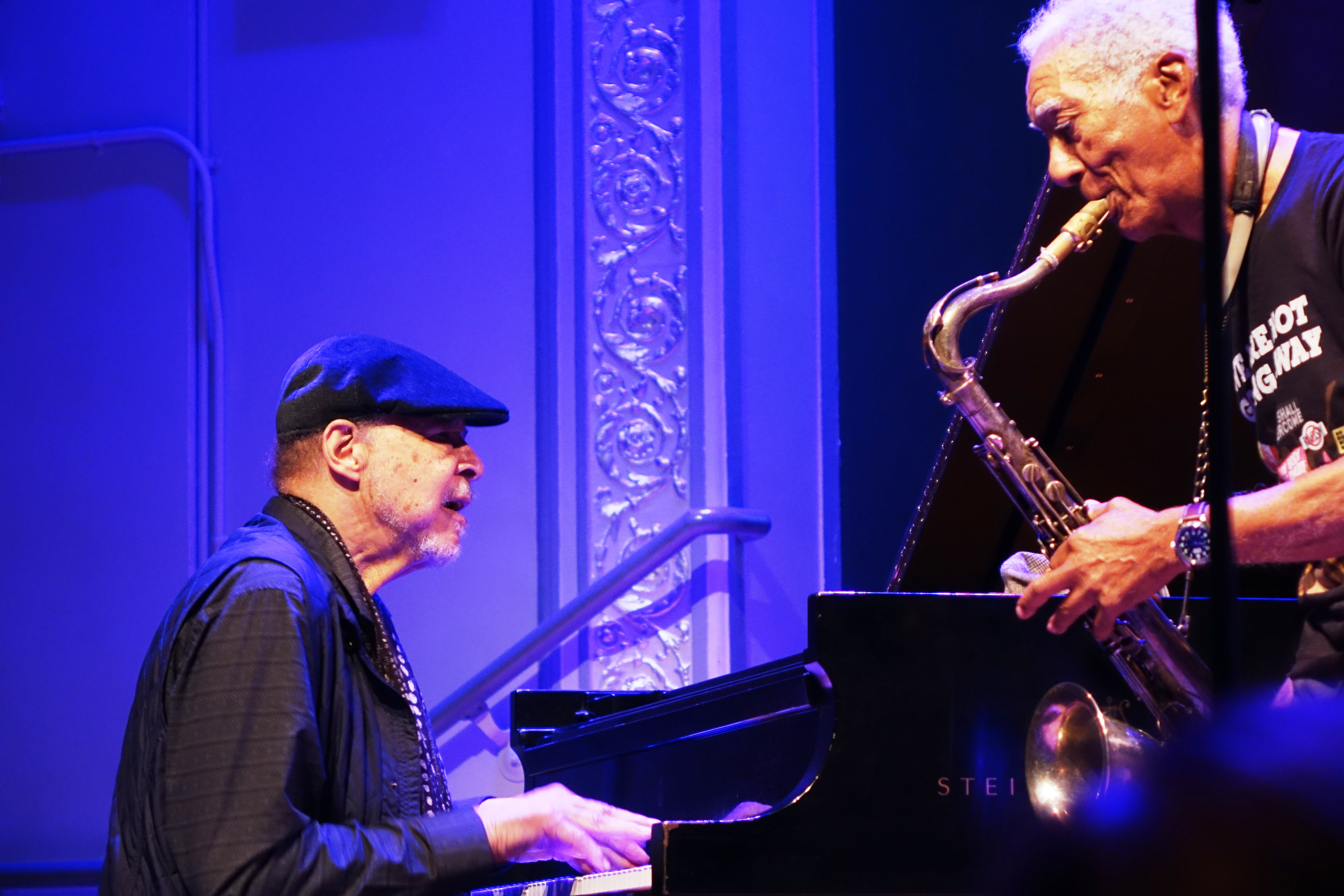 Dave Burrell and Kidd Jordan at Roulette, Brooklyn in May 2018