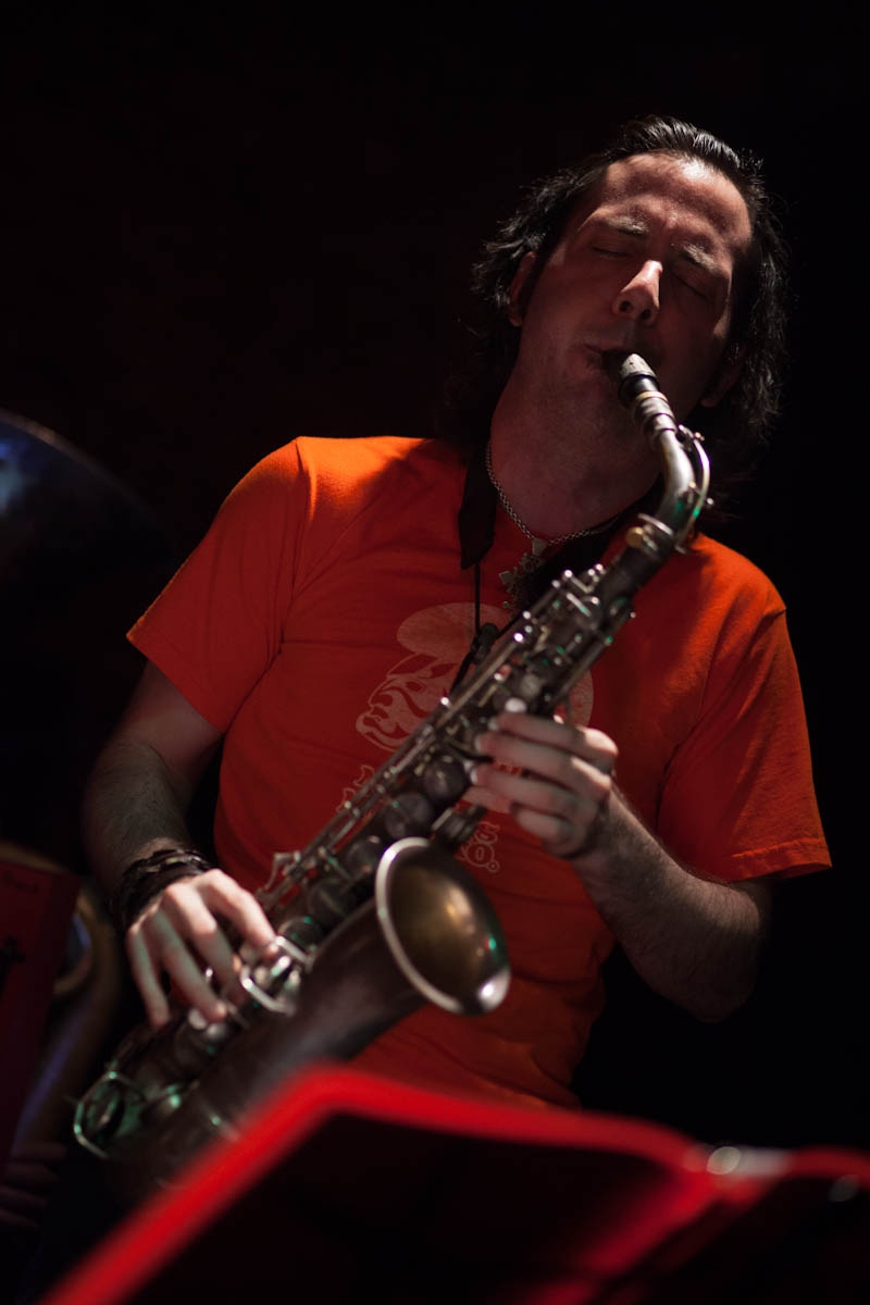 John Beaty on Alto Saxophone with Musuko Brass Band