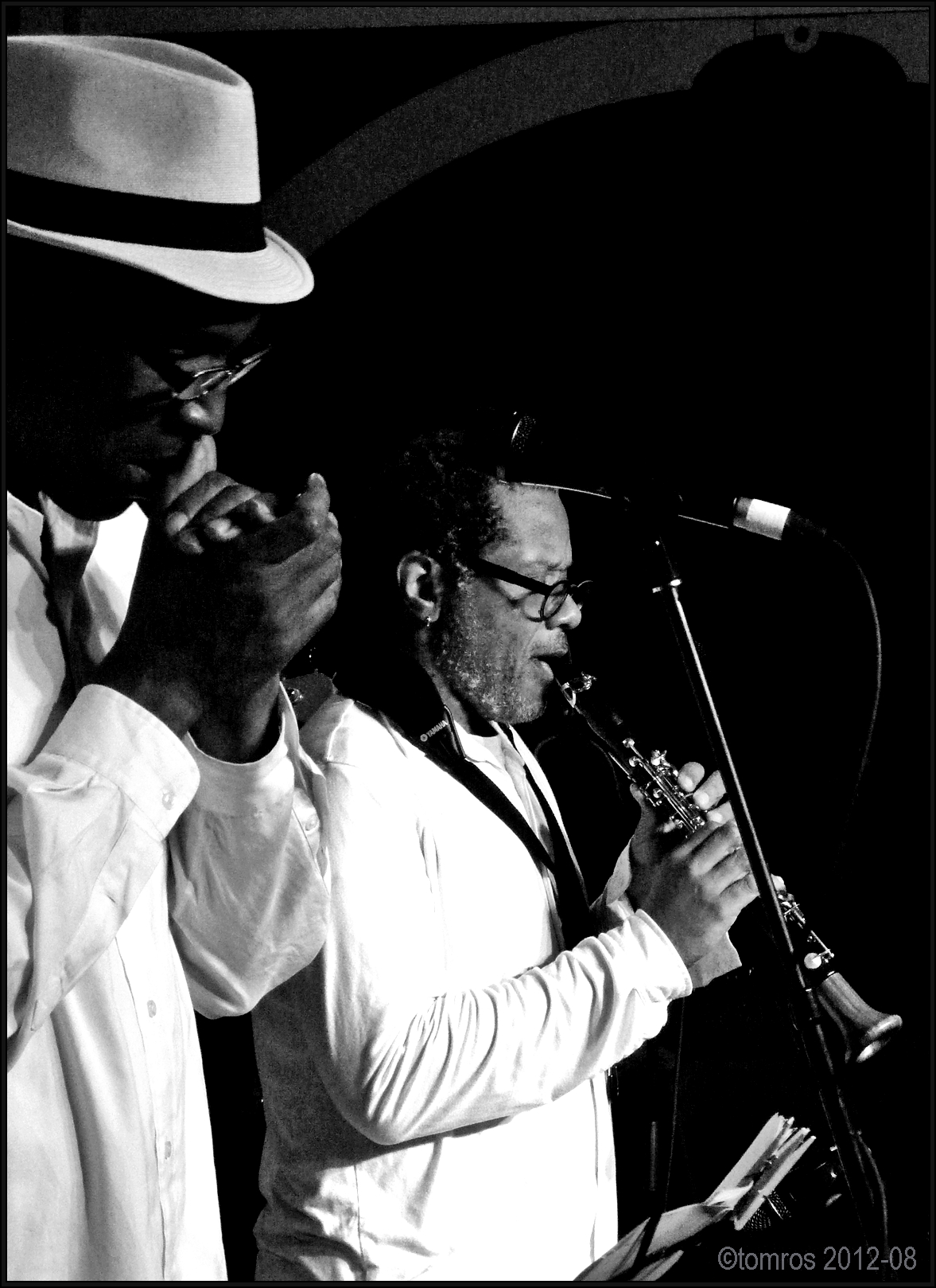 Dean Bowman & Don Byron at Markham Jazz Festival, August 18, 2012