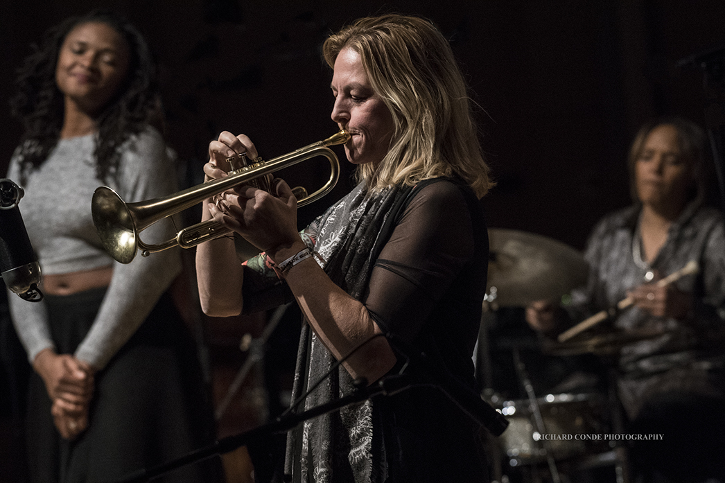 Ingrid Jensen, Lizz Wright and Terri Lynne Carrington at the  2018 Winter Jazz Festival
