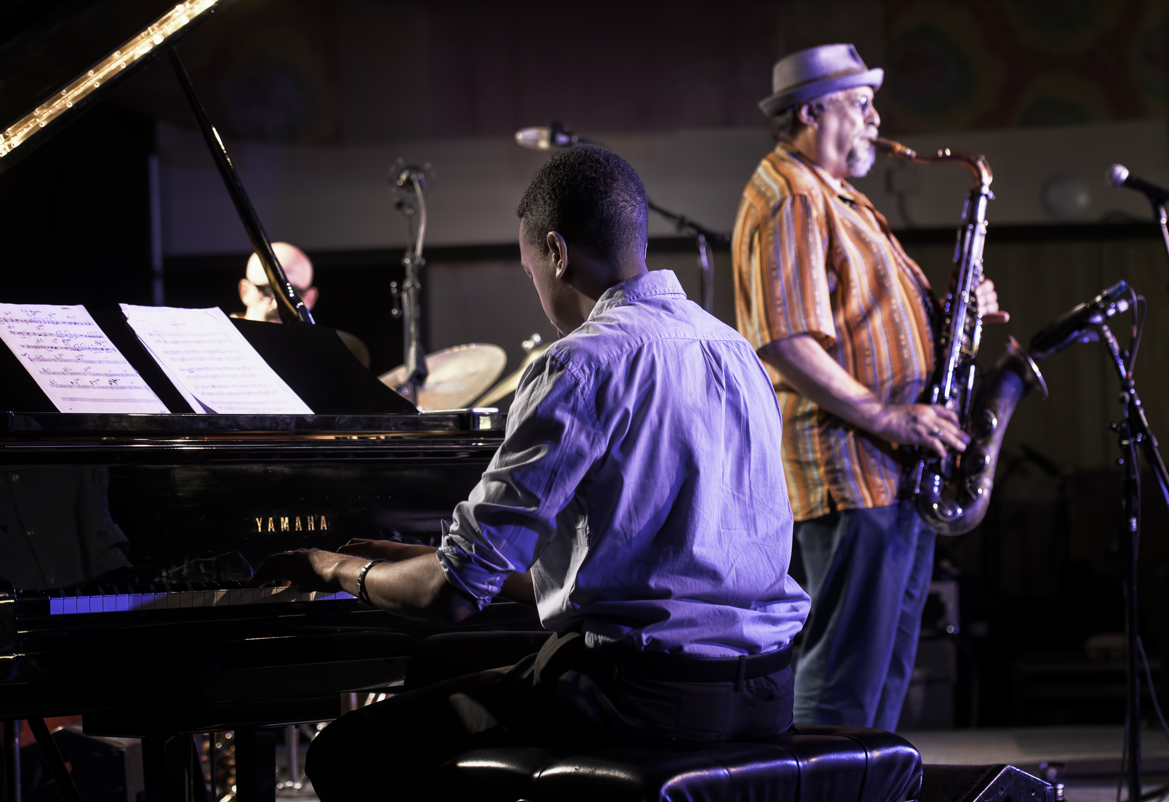 Lawrence Fields and Joe Lovano with the Classic Quartet at the Monterey Jazz Festival