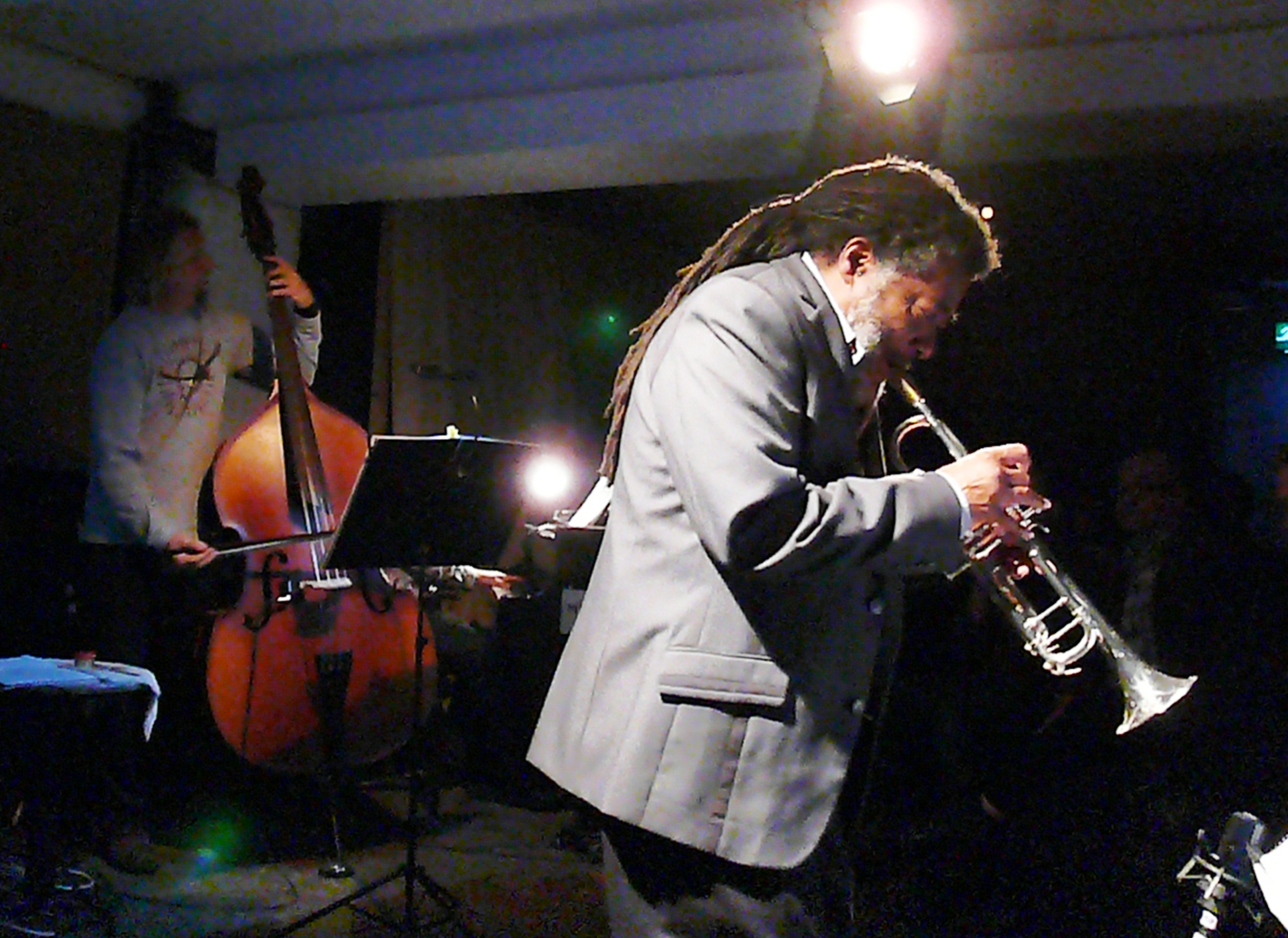 John lindberg and wadada leo smith at cafe oto as part of the london jazz festival in november 2013