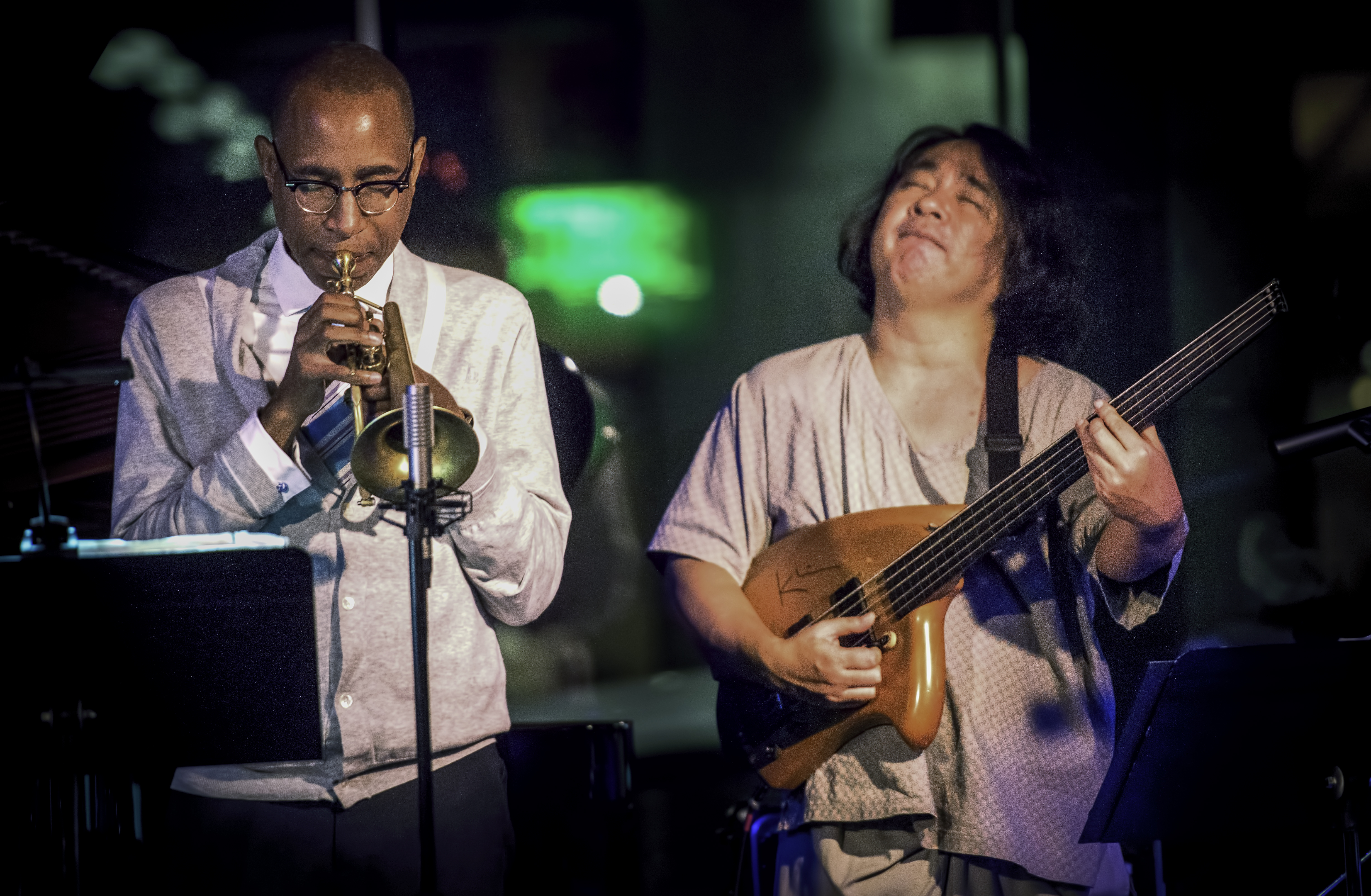 Ron Miles and Stomu Takeishi with Myra Melford's Snowy Egret at SF Jazz Center