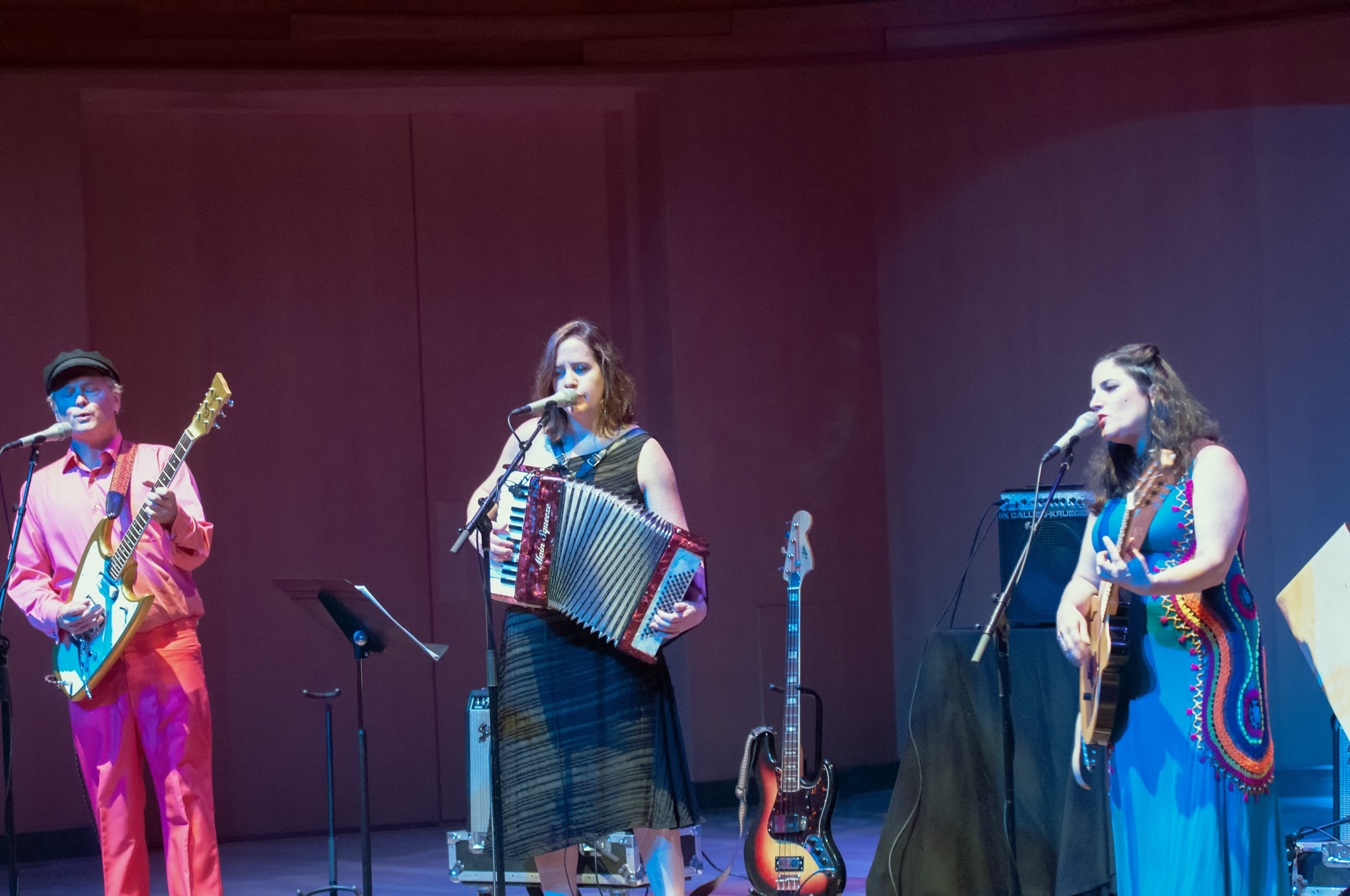 Erich Hubner, Eileen Willis and Ani Cordero at the Mim Global Music Festival