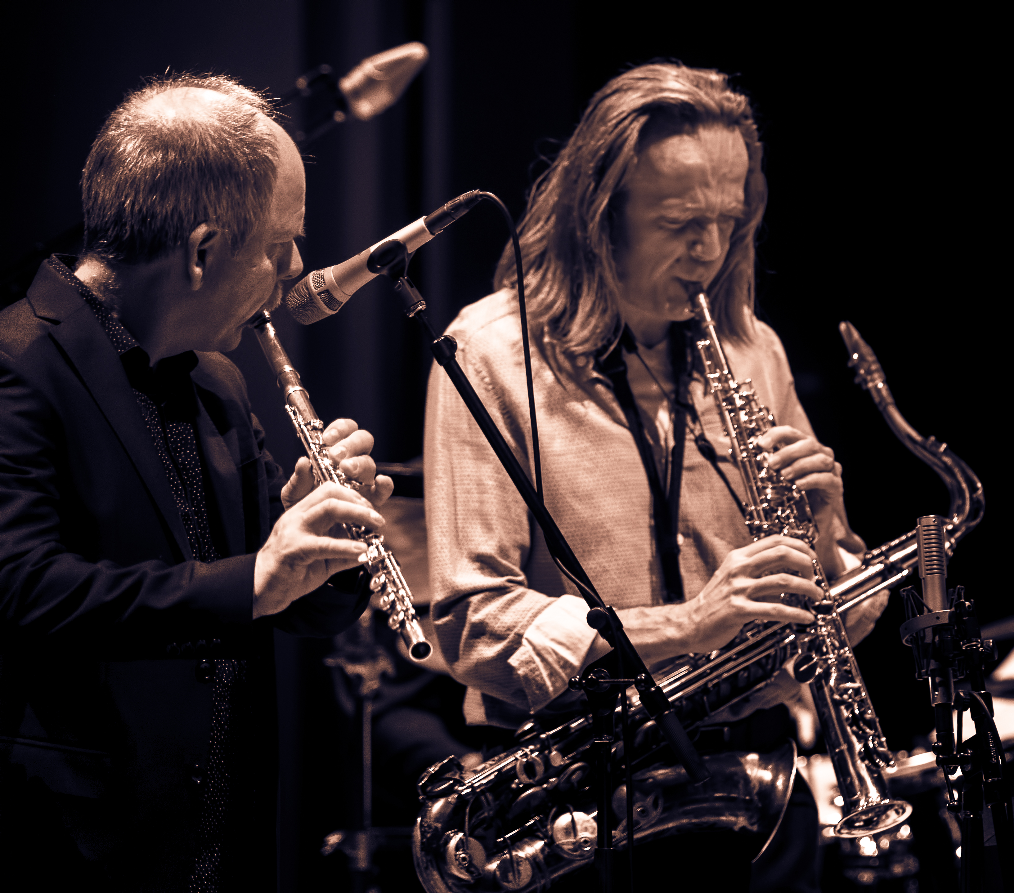 Bart Platteau and Marc Mommaas with the Amina Figarova Sextet At The Musical Instrument Museum (MIM) In Phoenix