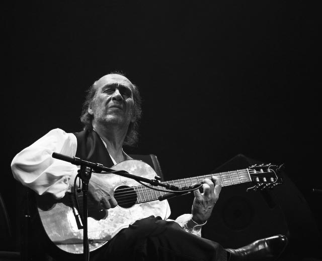 Paco de lucia at concert in copenhagen on the 22nd of june 2013