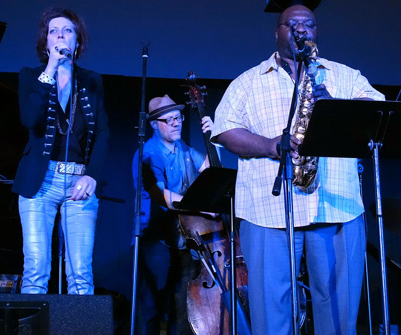 Emilie LesBros, Sean Conly, & Darius Jones at Vision Festival 20