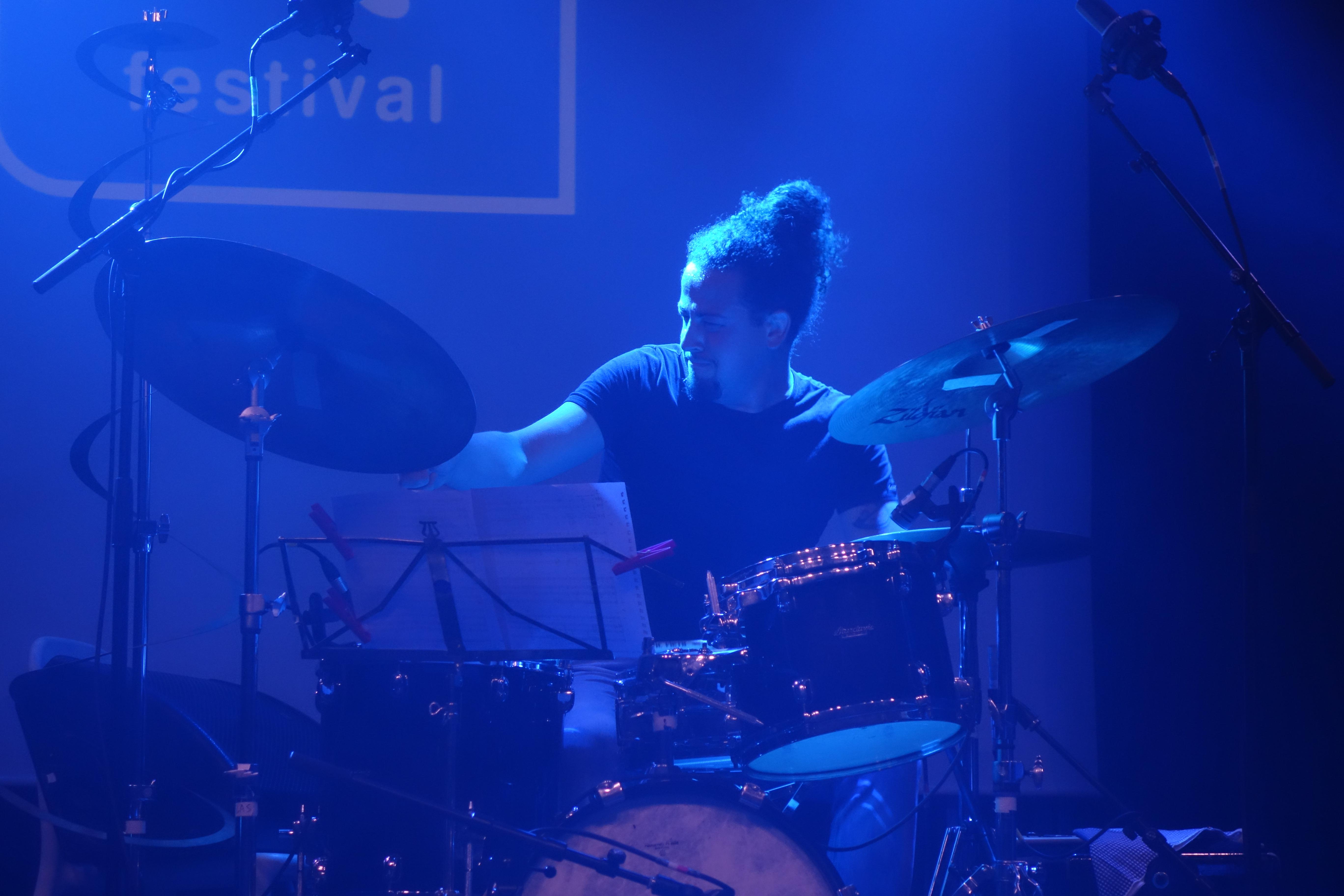 Davide Bussoleni of Francesco Orio Trio, 12 Points Festival 2017 Aarhus