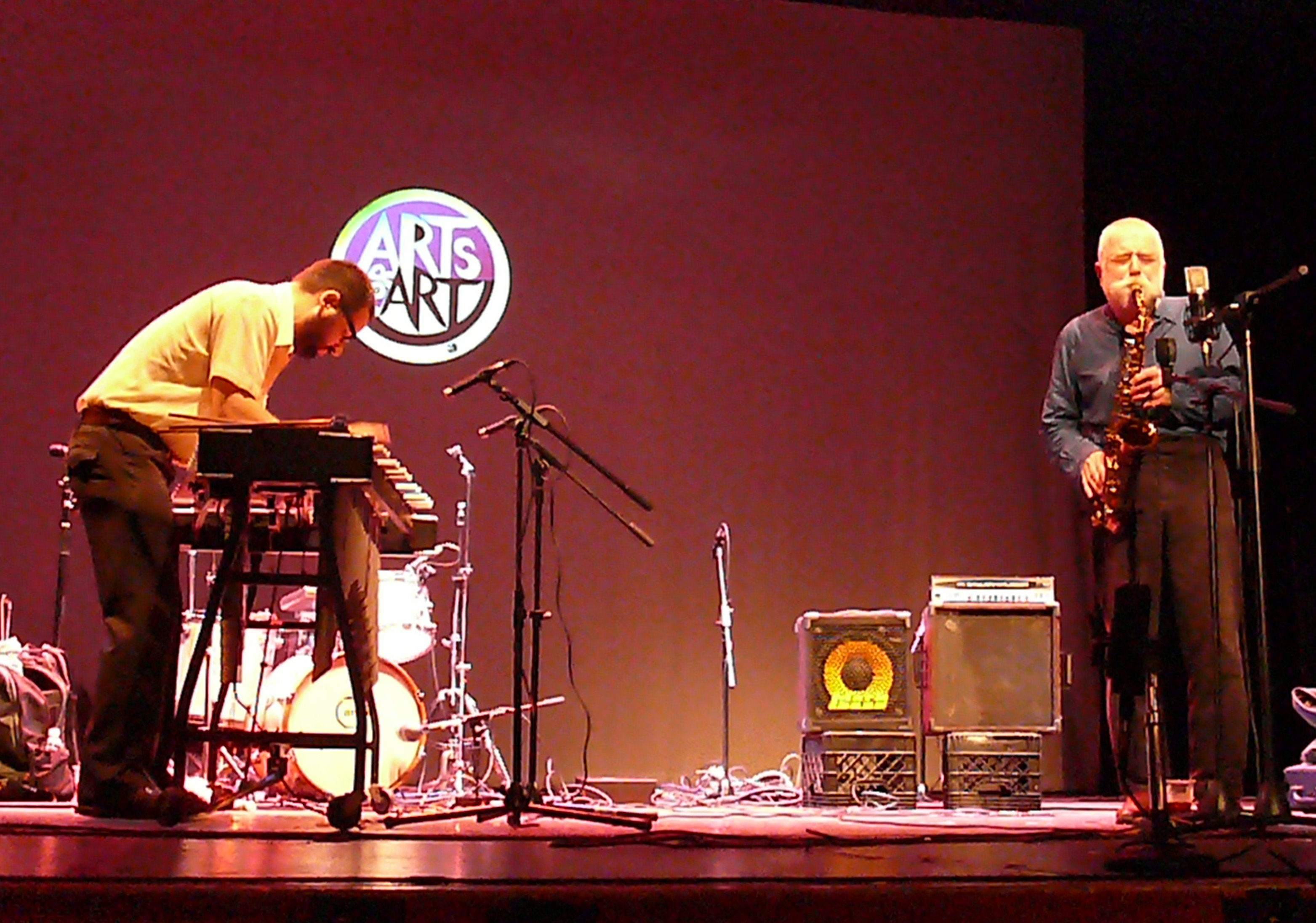 Jason Adasiewicz and Peter Brotzmann at Vision Festival 2011