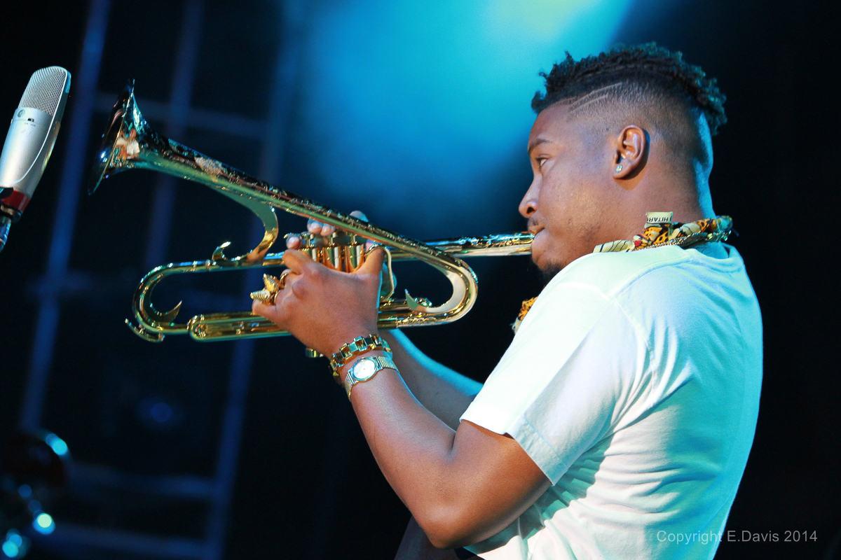 Christian Scott Performs at the Atlanta Jazz Festival