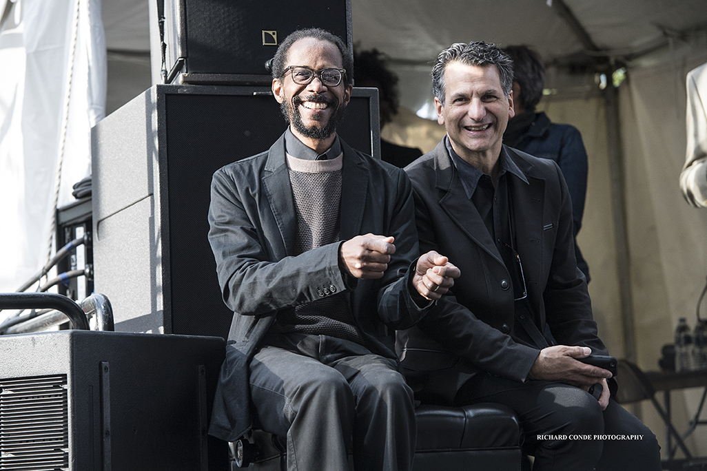 Brian Blade and John Patitucci at the 2017 Detroit Jazz Festival