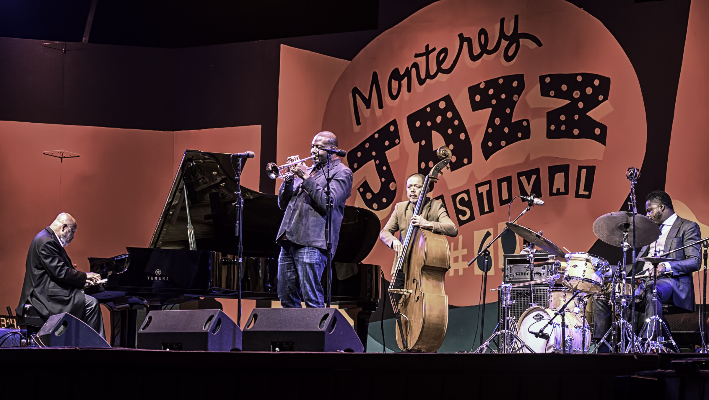 Kenny Baron, Sean Jones, Kiyoshi Kitawa and Roy Hargrove with Kenny Baron's Tribute to Dizzy at 100 at the Monterey Jazz Festiva