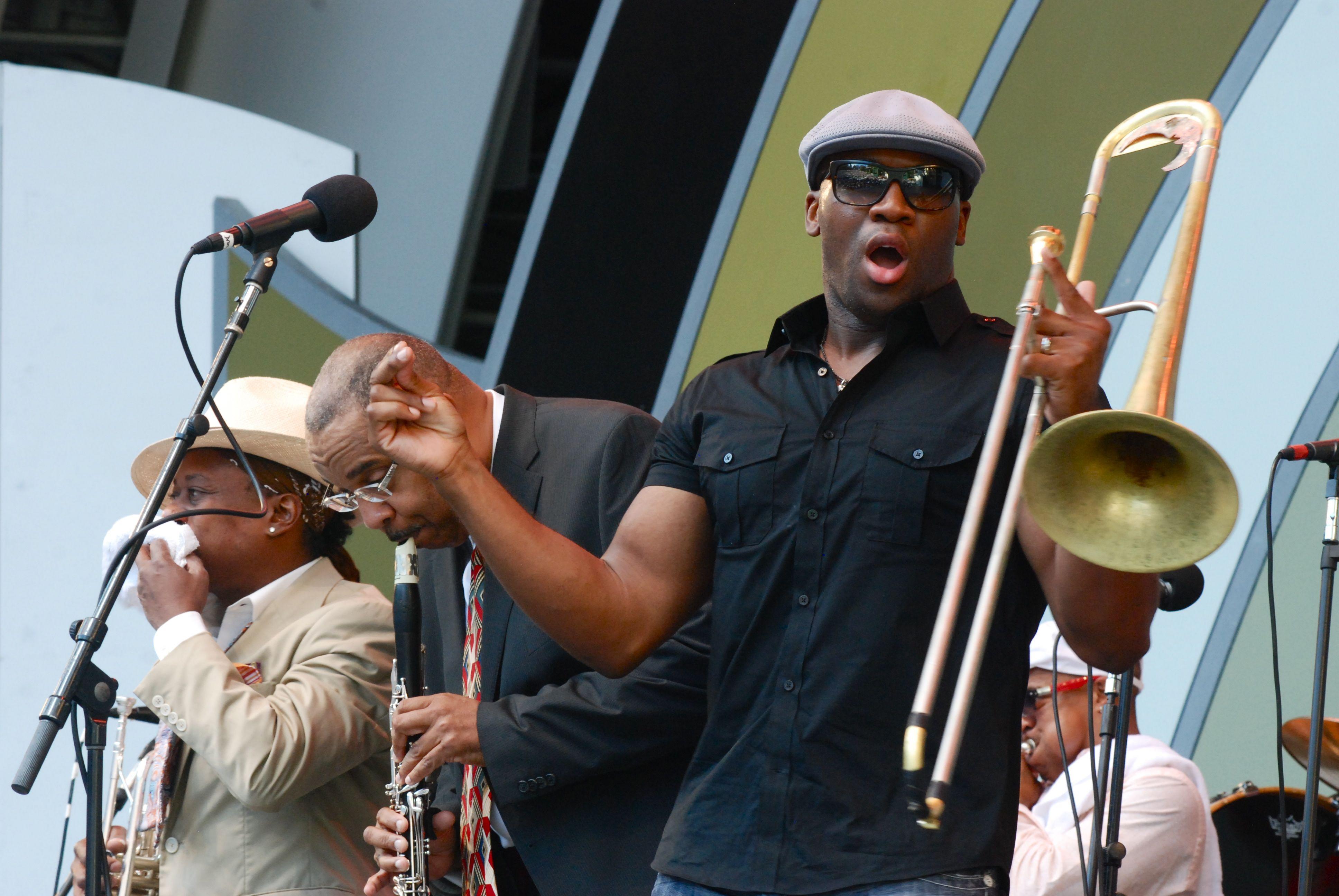 Trombonist Big Sam Williams of the Rebirth Brass Band