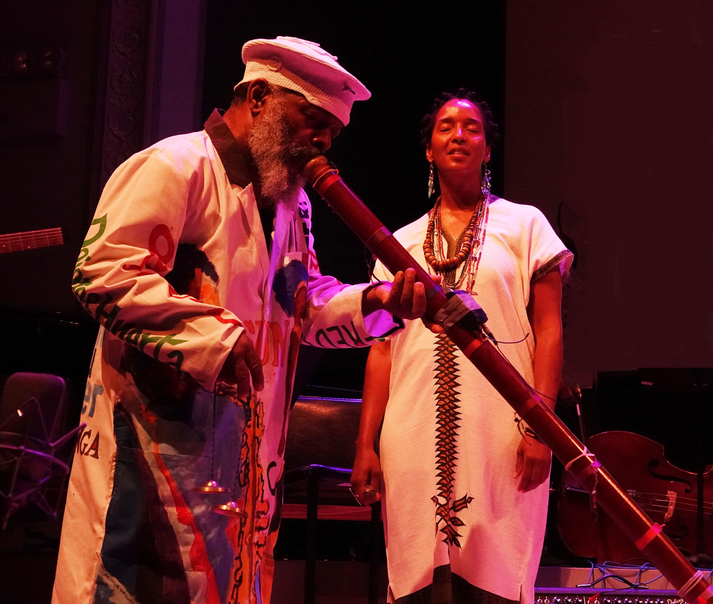 Douglas Ewart & Mankwe Ndosi at 24th Annual Vision Festival