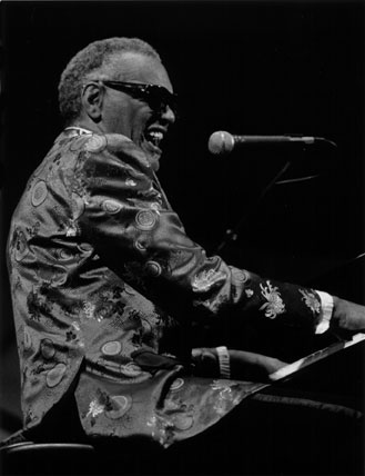 Ray Charles at the Monterey Jazz Festival in 1987