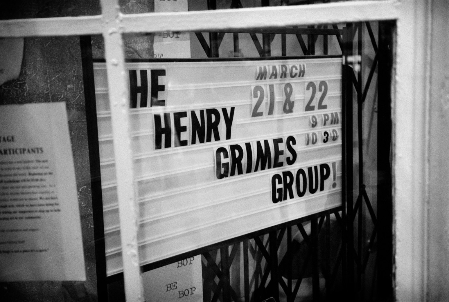 Henry Grimes at World Stage
