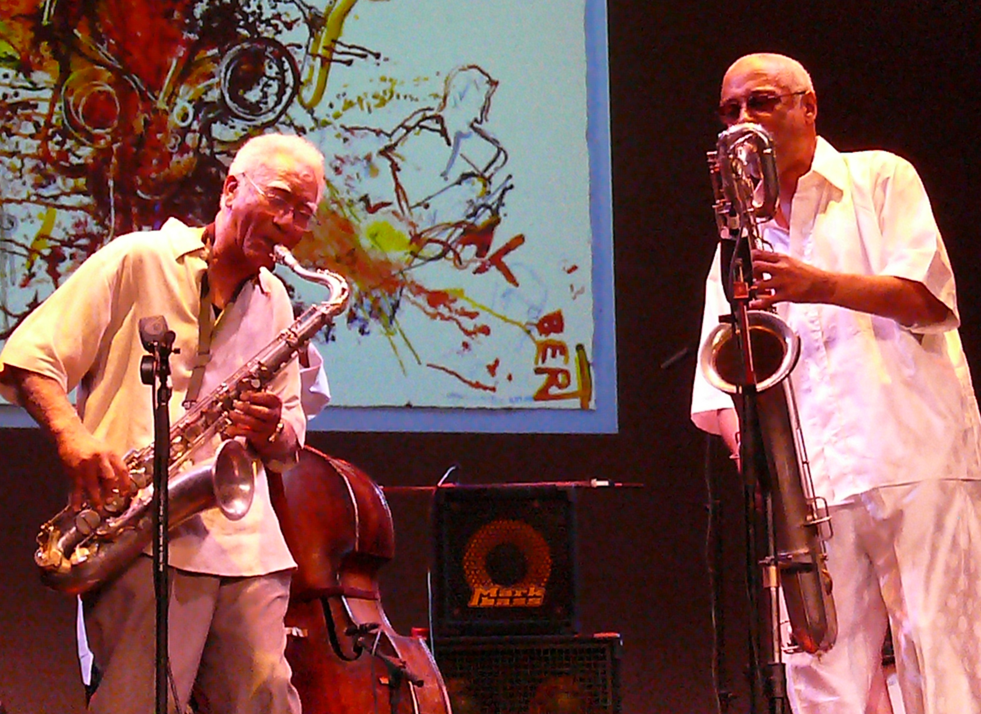 Kidd Jordan and Hamiett Bluiett at Vision Festival 2011
