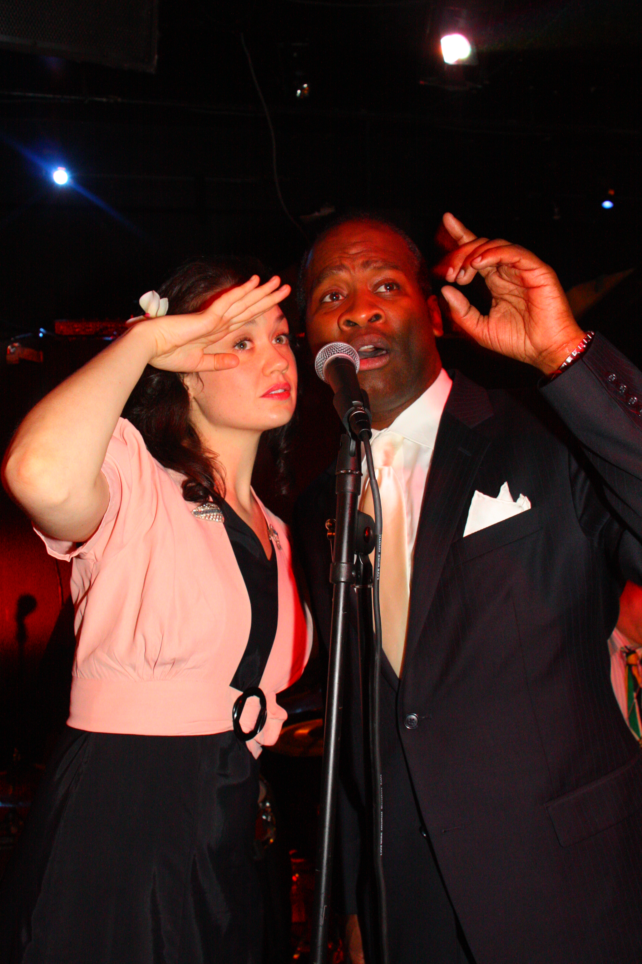 George Gee Swing Orchestra Singers Hilary Gardner and John Dokes