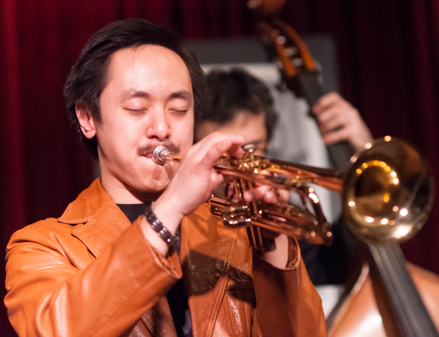Gordon Au with the Melissa Aldana Quartet at the Jazz Gallery