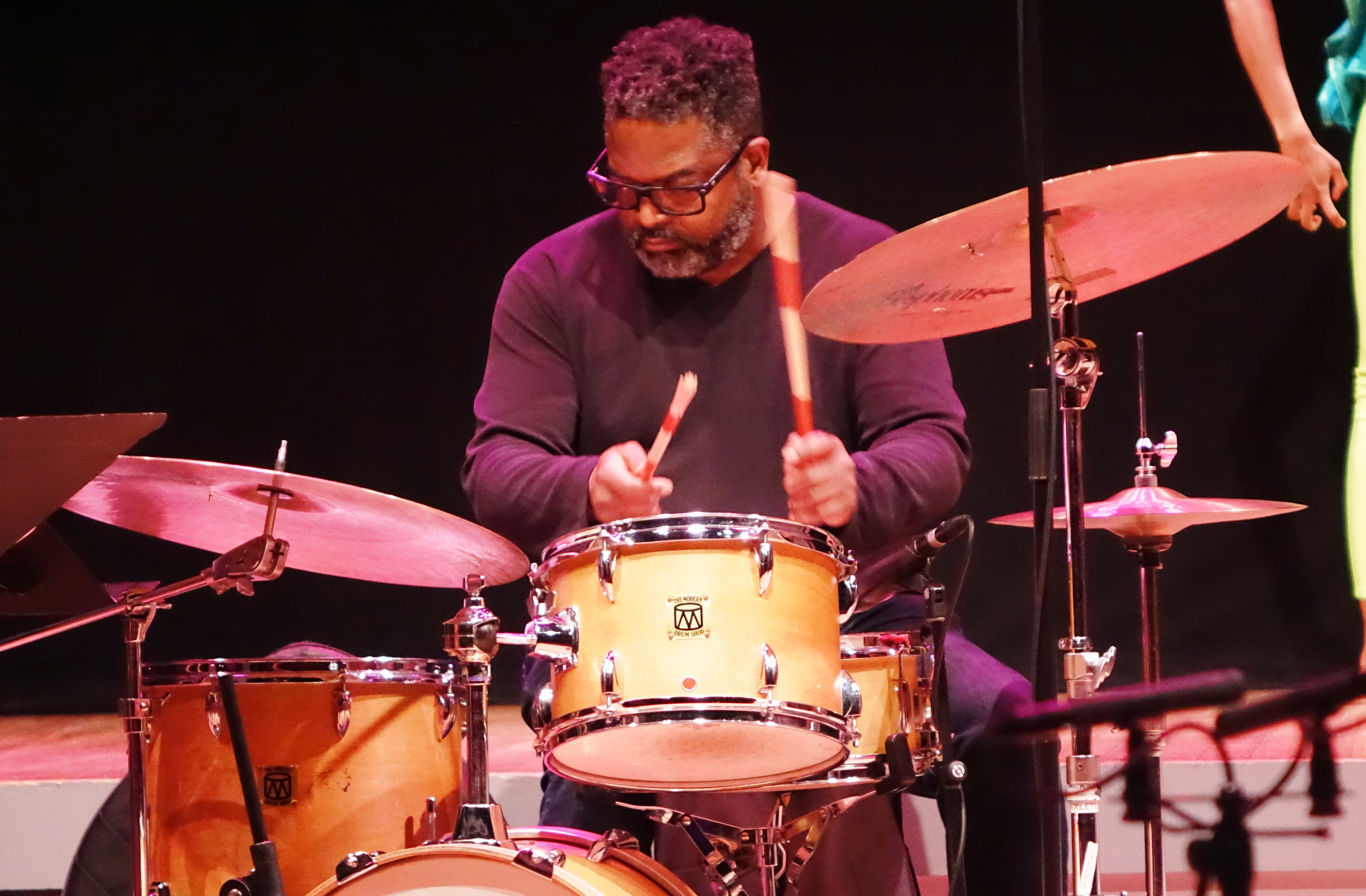 Gerald Cleaver at the Vision Festival in Roulette, Brooklyn in June 2019
