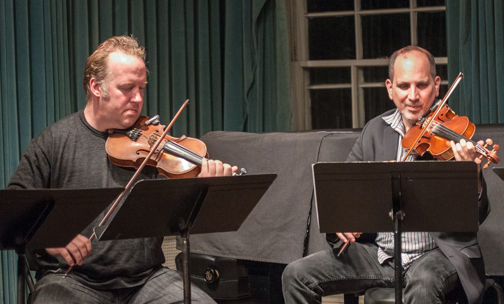 Christian Howes and Sam Bardfeld with Joel Harrison's String Choir at Greenwich House