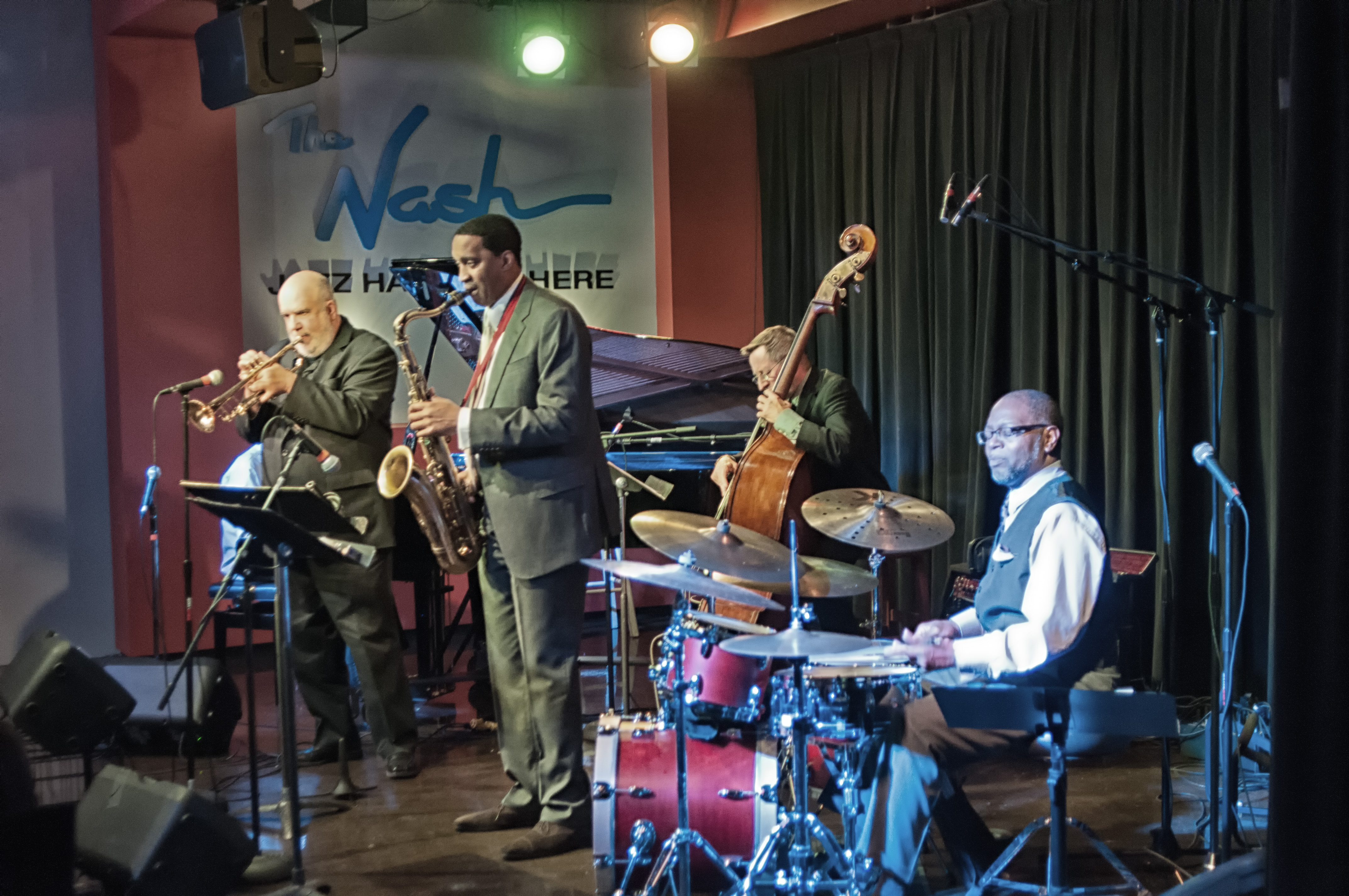 The Lewis Nash All Stars With George Cables, Randy Brecker, George Mraz, Javon Jackson And Lewis Nash At The Nash In Phoenix