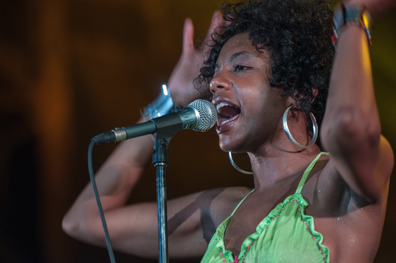 Niki J Crawford with Orgone at the Montreal International Jazz Festival 2012