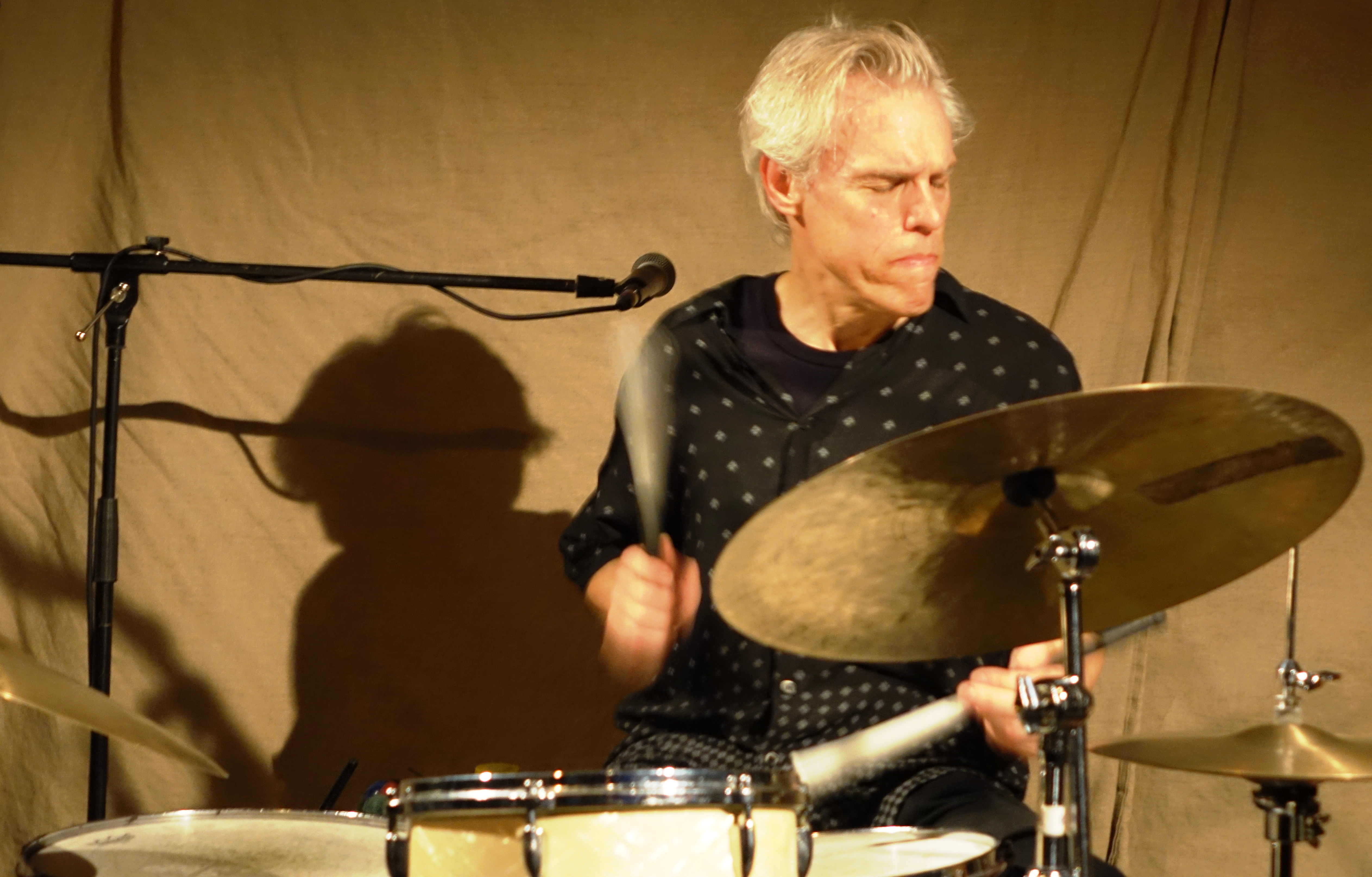 Gerry Hemingway at Cafe Oto, London in April 2018