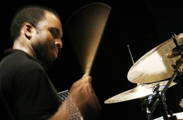 "Nate Smith with ""Chris Potter's Underground"" at the Amr Jazz Festival, Alhambra, Geneva, Switzerland, April 2006"