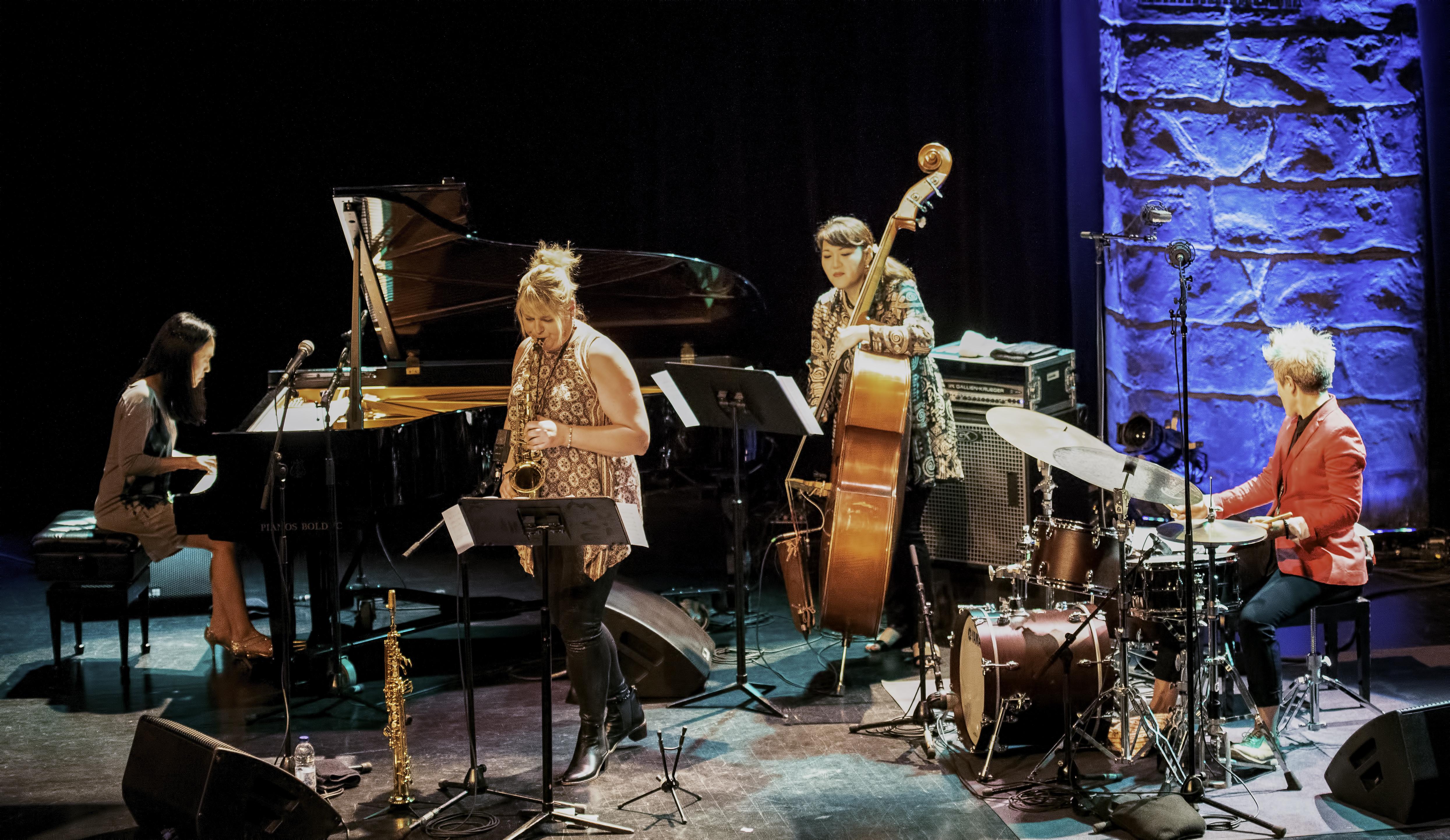 Helen Sung Christine Jensen, Noriko Ueda and Allison Miller with Christine Jensen's New York Quartet At The Montreal International Jazz Festival 2019