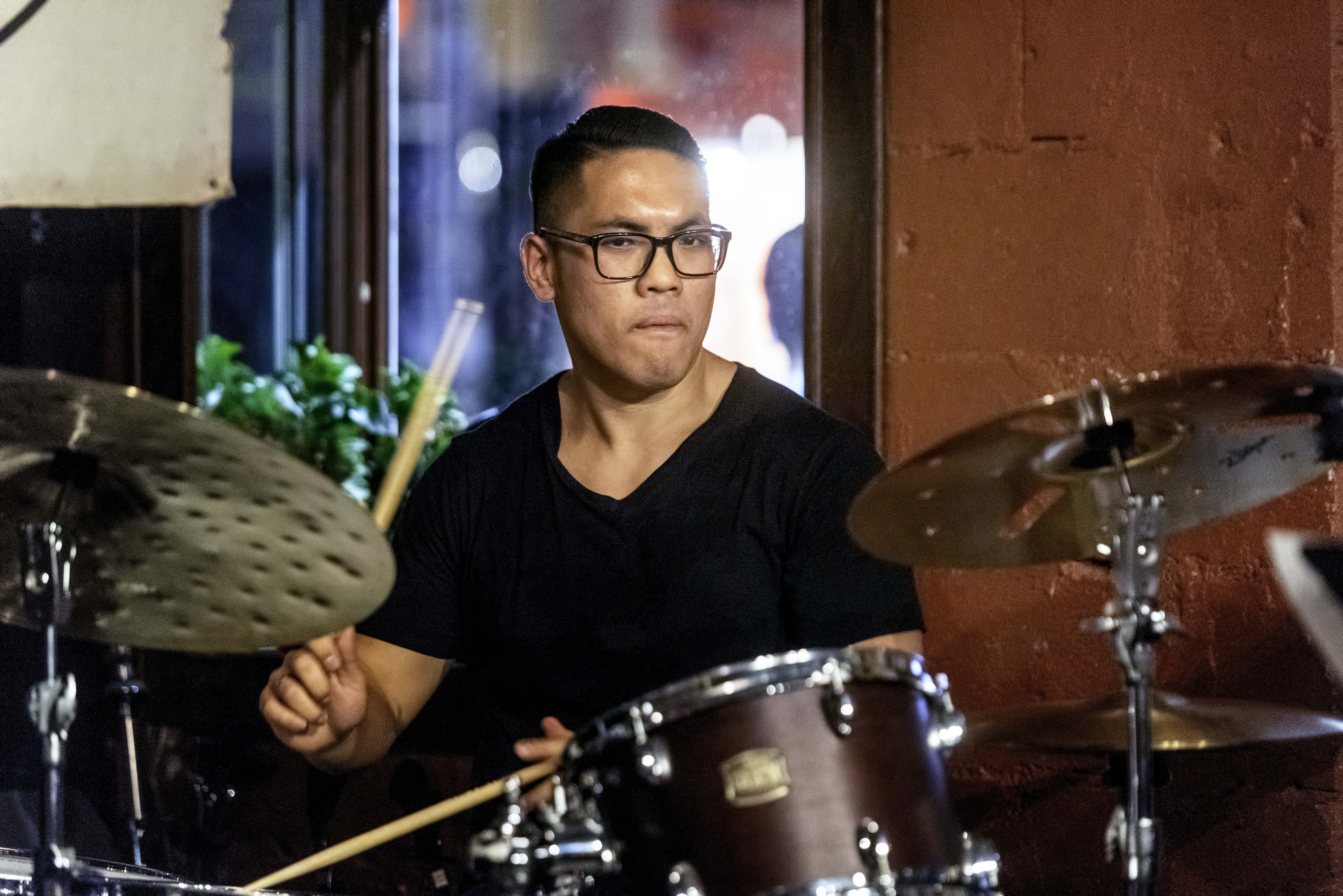 Anthony Fung with David Binney at the Rex Jazz Bar at the Toronto Jazz Festival 2019