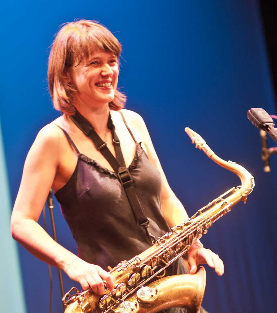 Ingrid Laubrock with Paradoxical Frog at the Vision Festival 2011