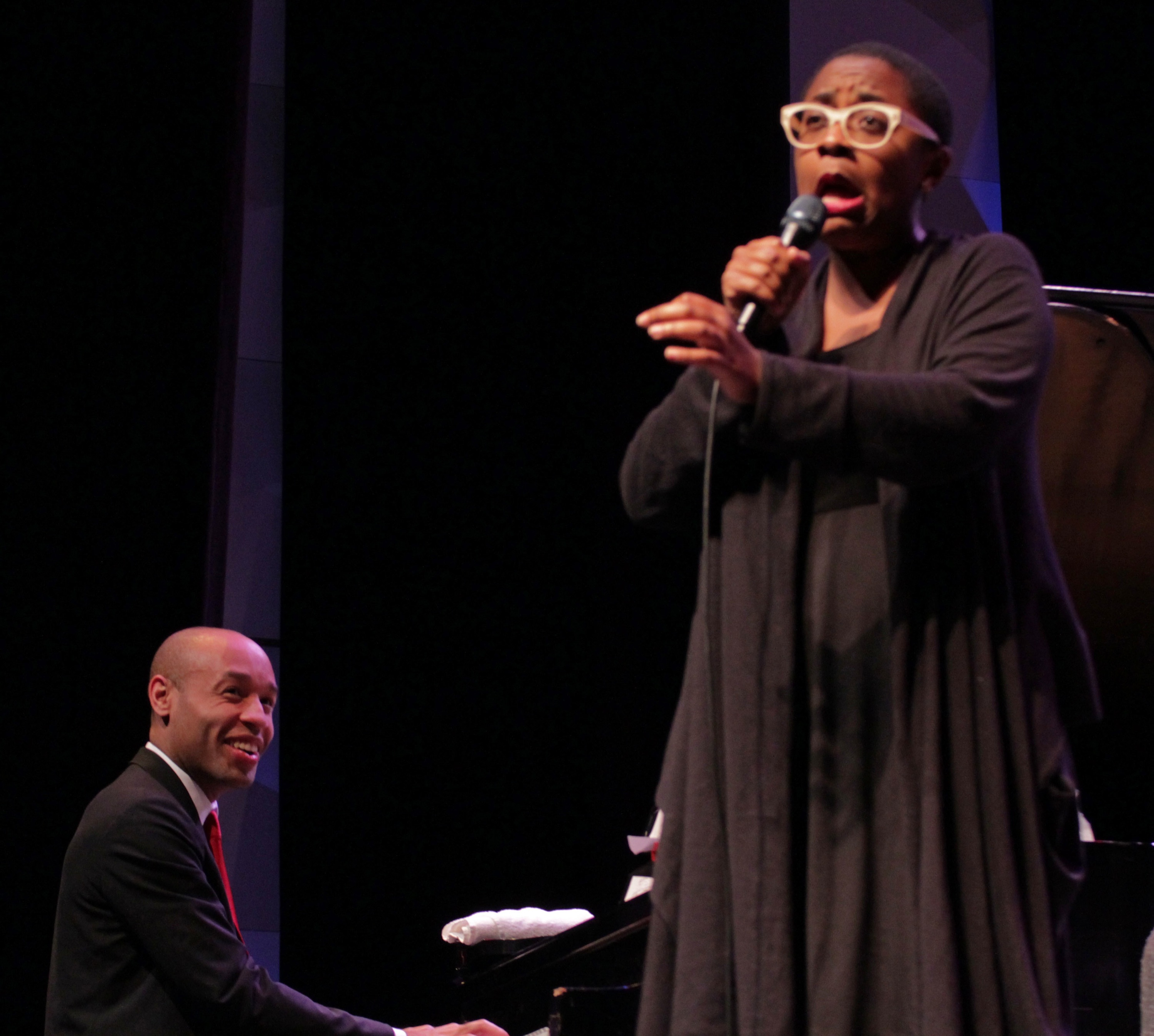 Aaron diehl and cecile mclorin salvant at tri-c jazzfest cleveland 2013