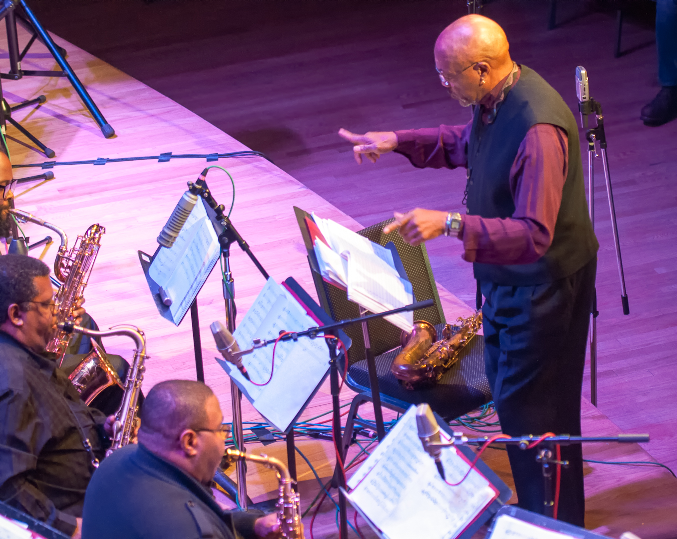 Oliver Lake with James Steward and Bruce Williams with the Oliver Lake Big Band at Roulette