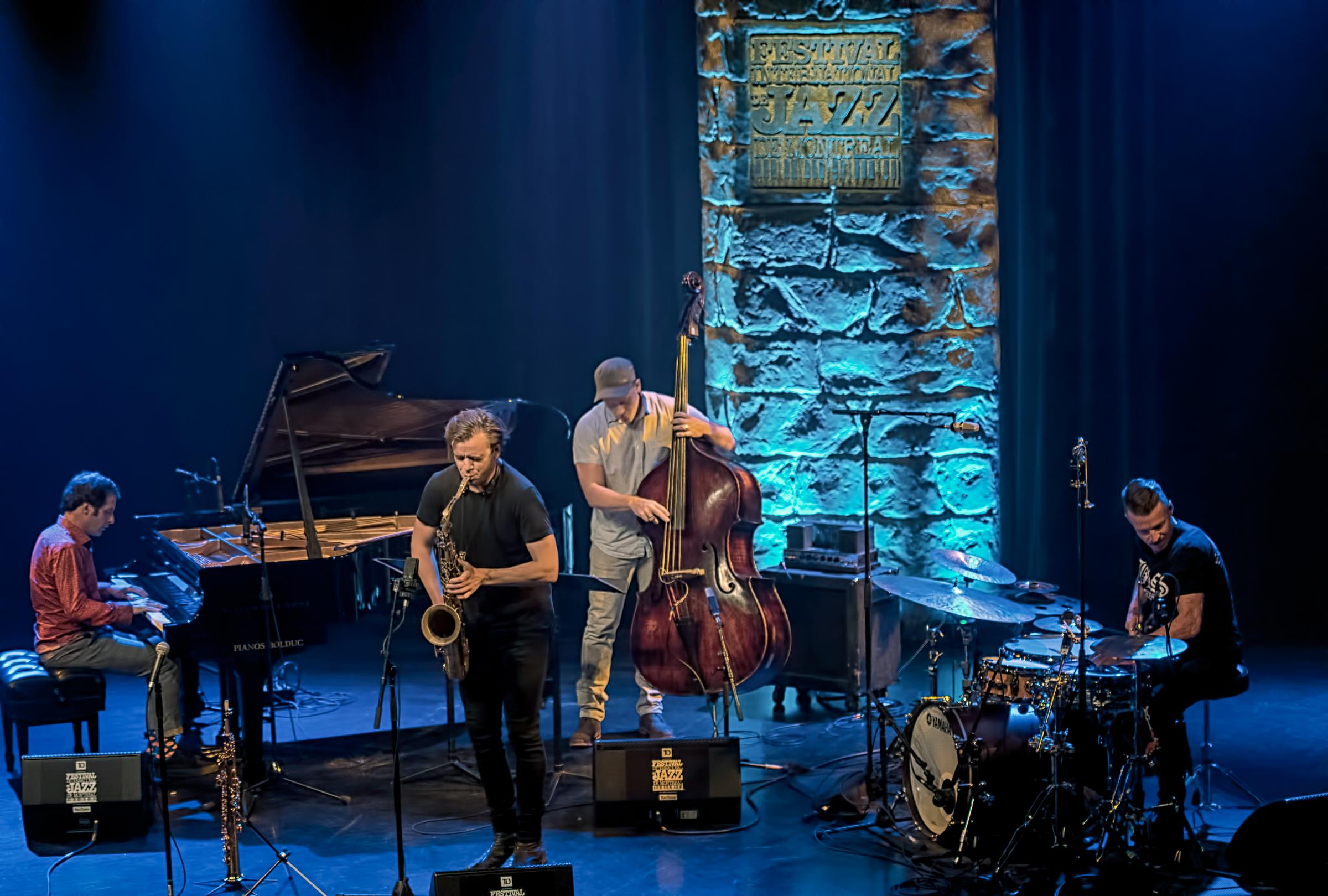 Ivo Neame, Michael Janish, Marius Neset And Anton Eger At The Montreal International Jazz Festival 2018