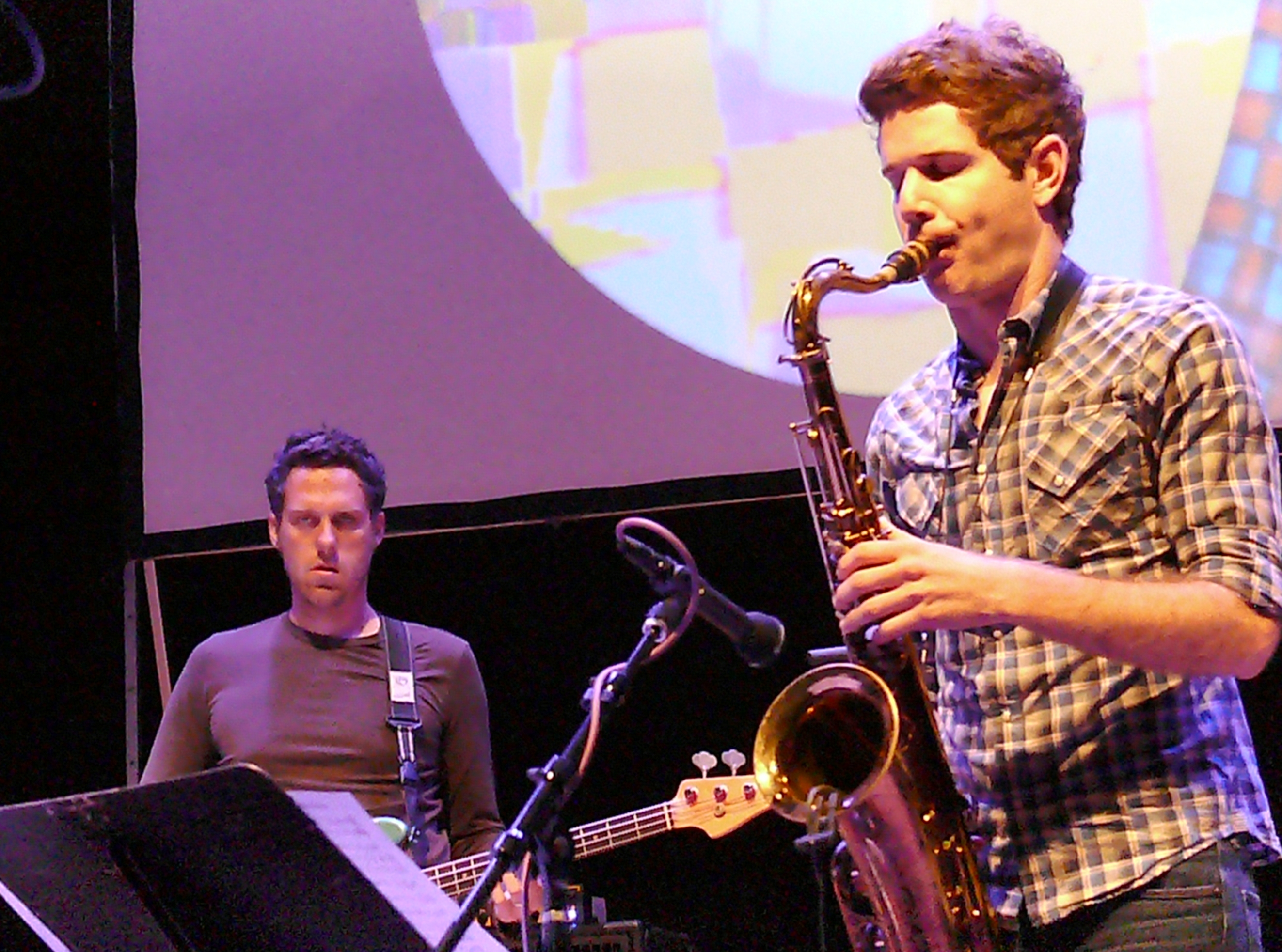 Kaveh Rastegar and Ben Wendel at the Vision Festival, NYC in June 2012