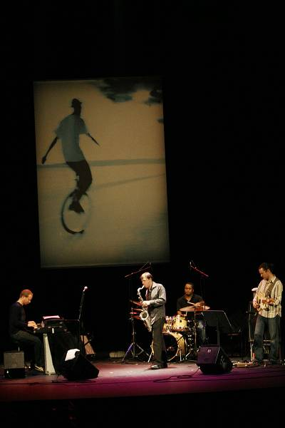 """Craig Taborn, Chris Potter, Nate Smith and Adam Rogers with """"Chris Potter's Underground"""" at the Amr Jazz Festival, Alhambra, Gen"""