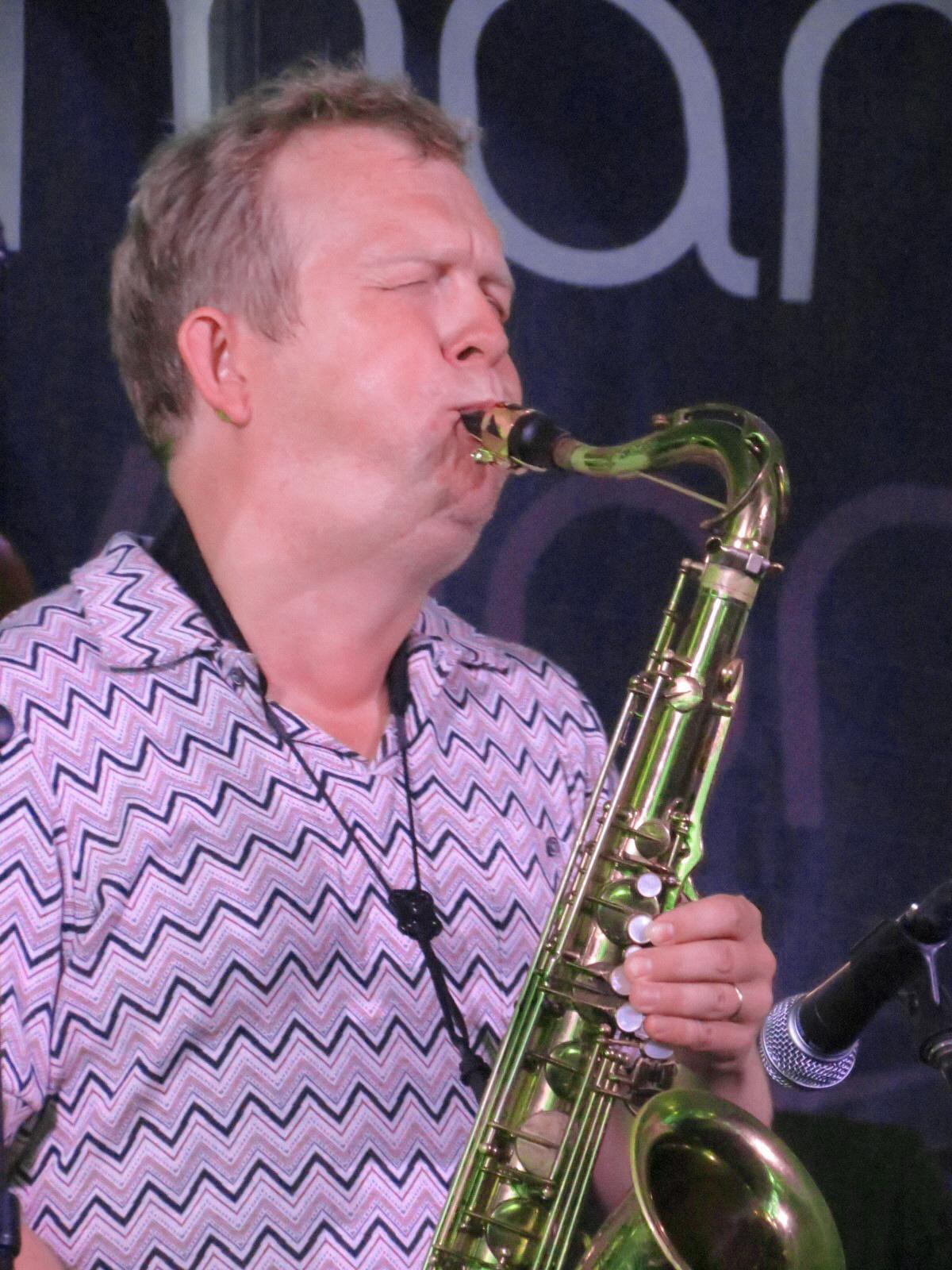 Fredrik Ljungvkist with Atomic at 2013 Chicago Jazz Festival