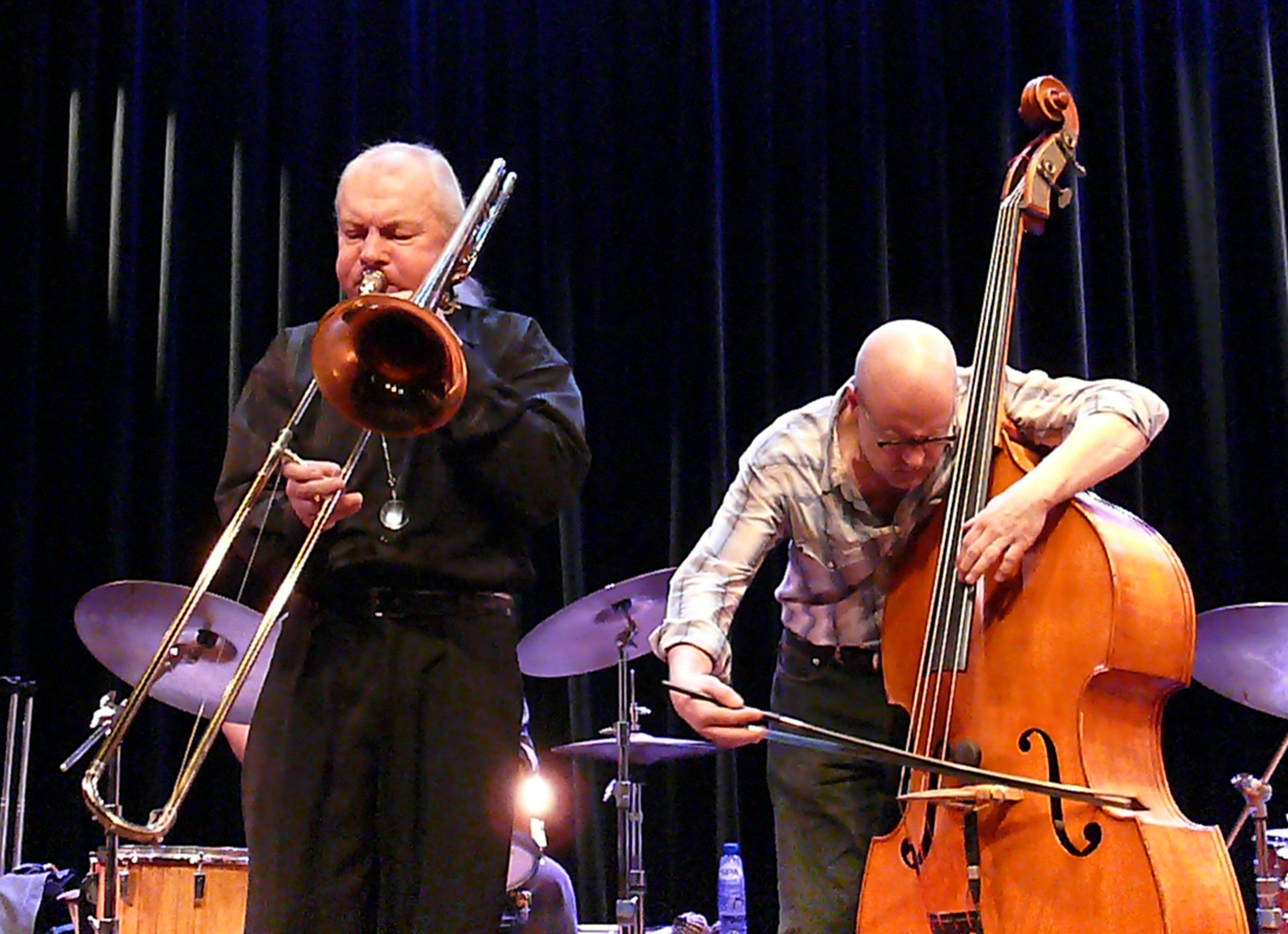 Conrad Bauer and Kent Kessler at the Bimhuis in Amsterdam, 13 February 2009