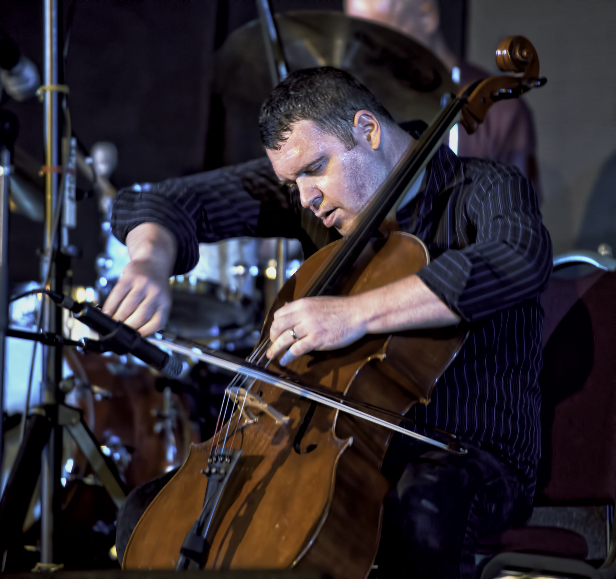 Daniel Levin with the Whit Dickey Ensemble Cosmic Breath at the 20th Anniversary Vision Festival 2015