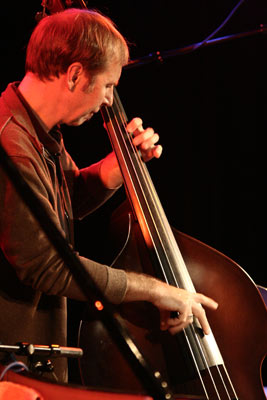 """Drew Gress with the """"Marc Copland Trio"""" at the Sud Des Alpes, Amr, Geneva, Switzerland, 2005"""