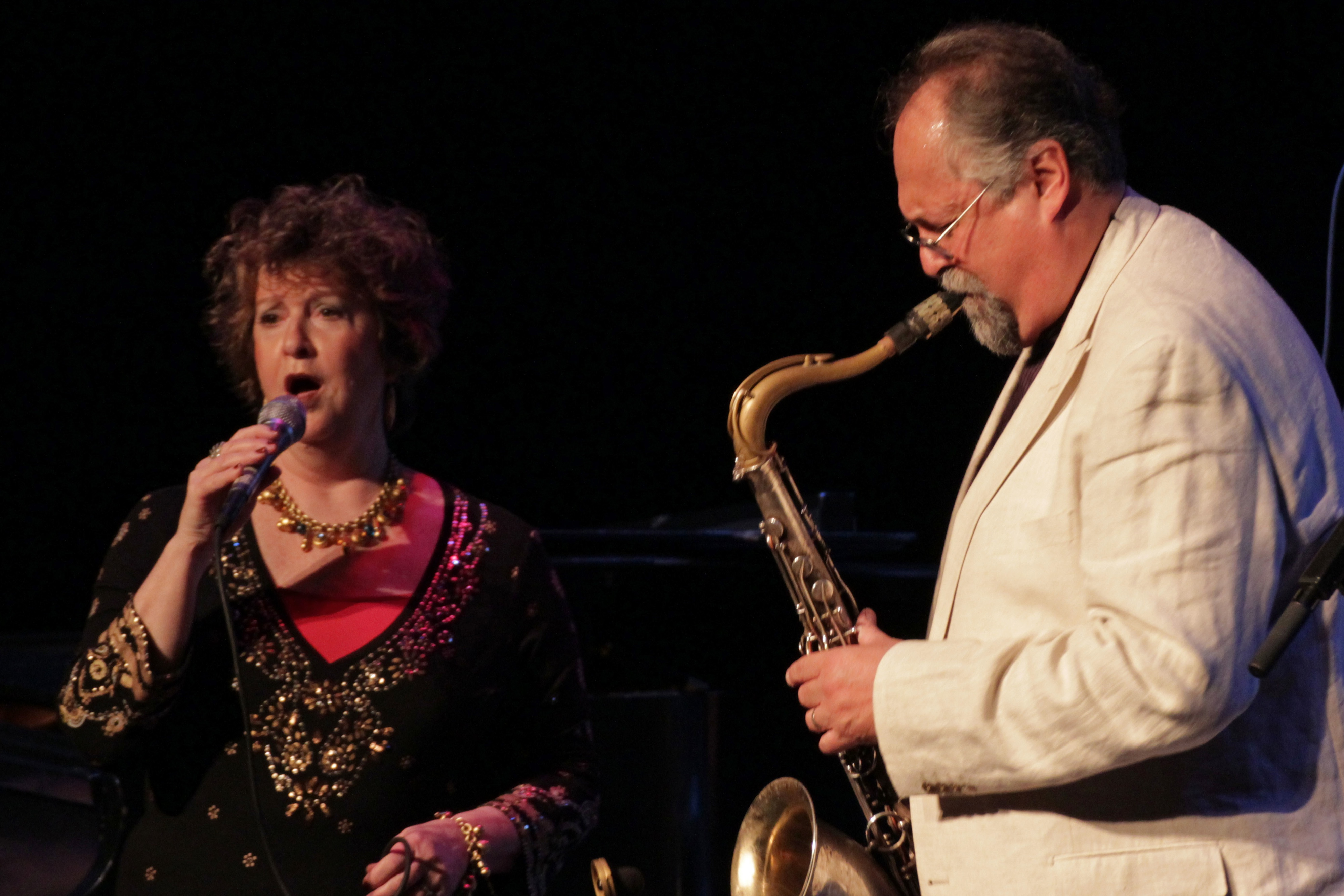 Judi silvano and joe lovano at tri-c jazzfest cleveland 2013