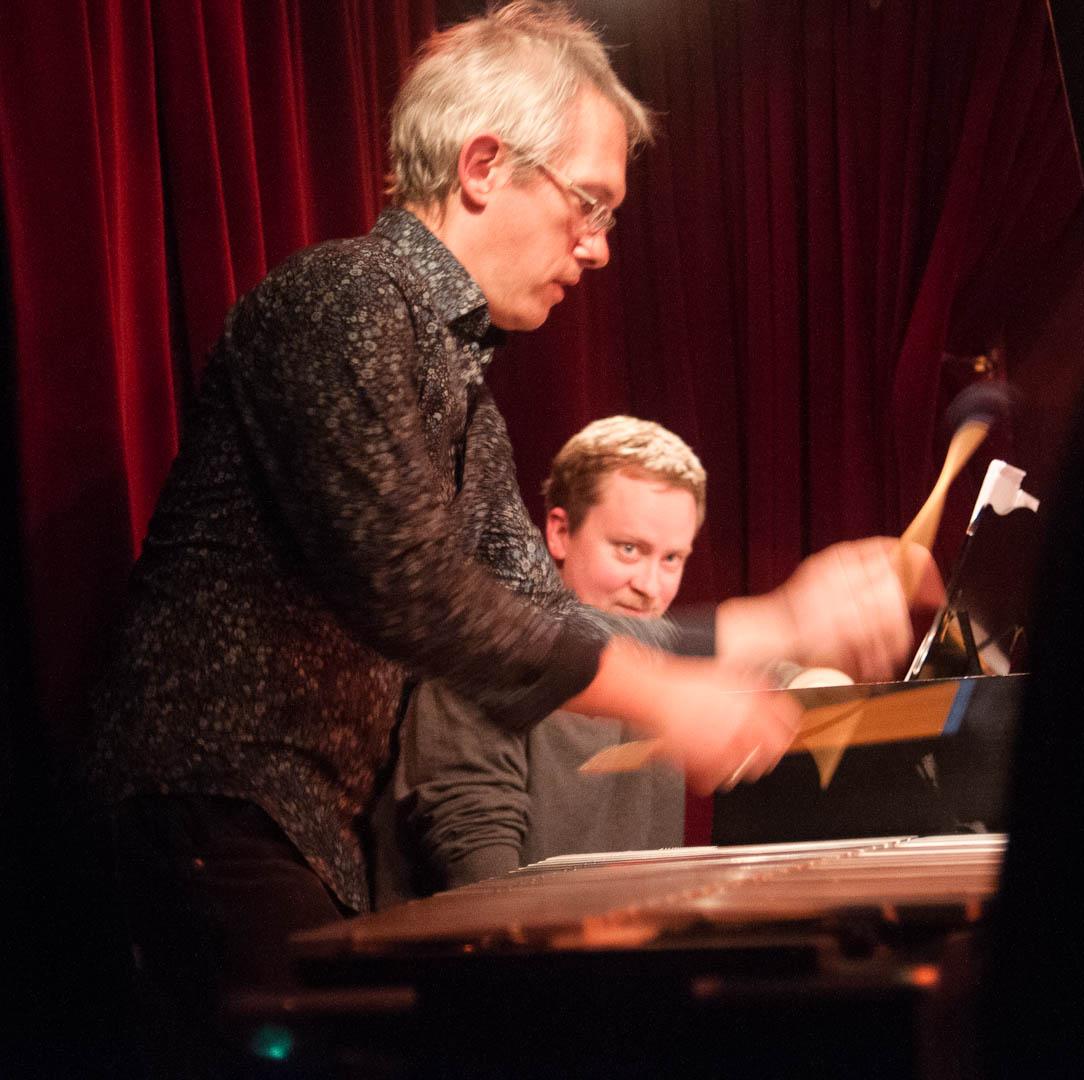 Matt Moran and Matt Mitchell with the Claudia Quintet at the Cornelia Street Cafe