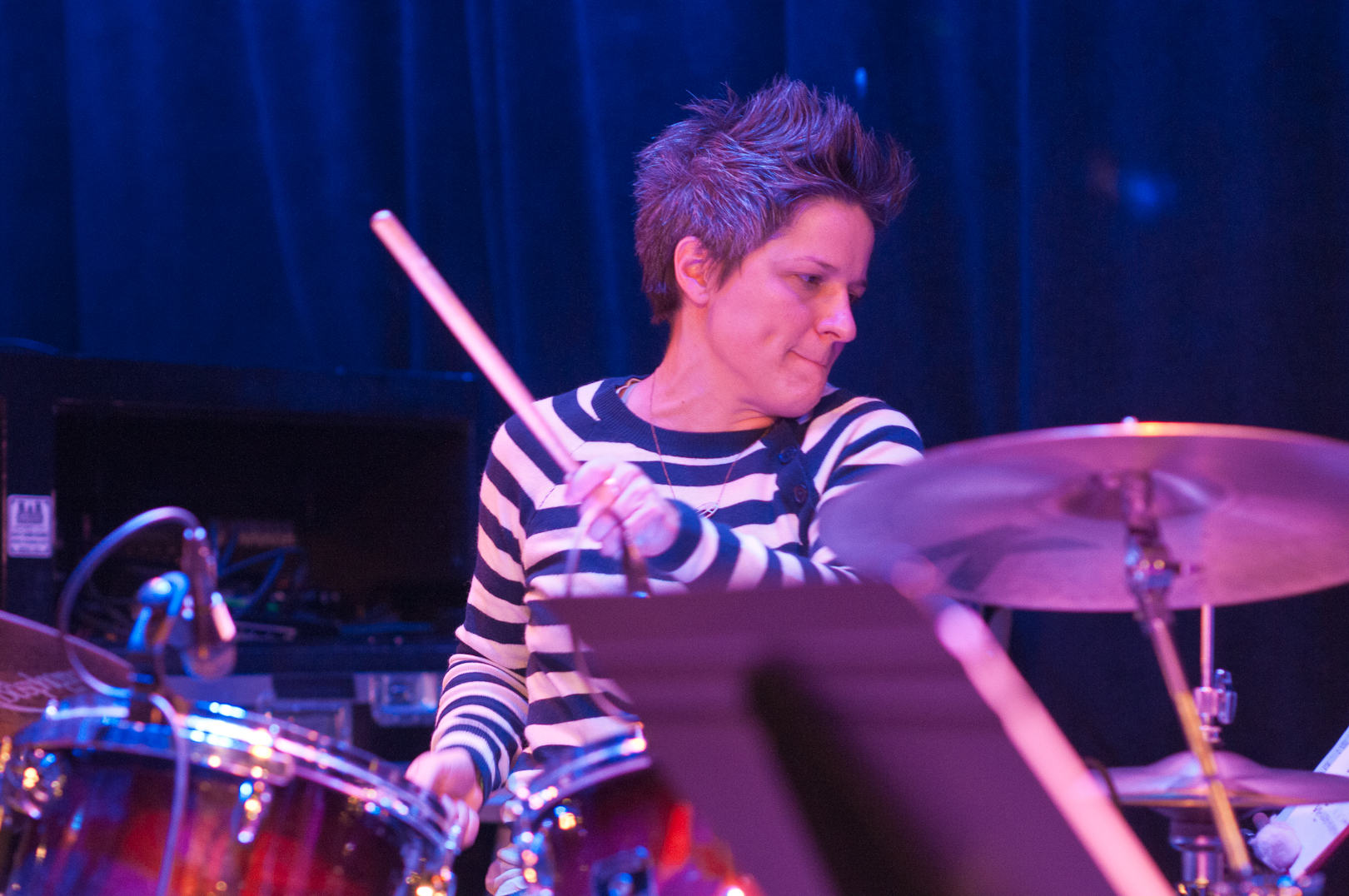 Alison Miller with the Jessica Lurie Ensemble at Winter Jazzfest 2012