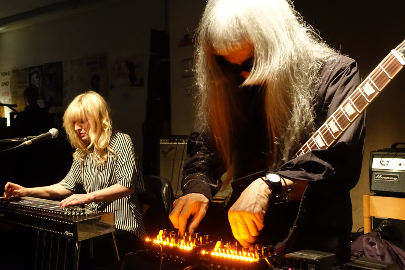 Heather Leigh and Keiji Haino at Cafe Oto, London in March 2018